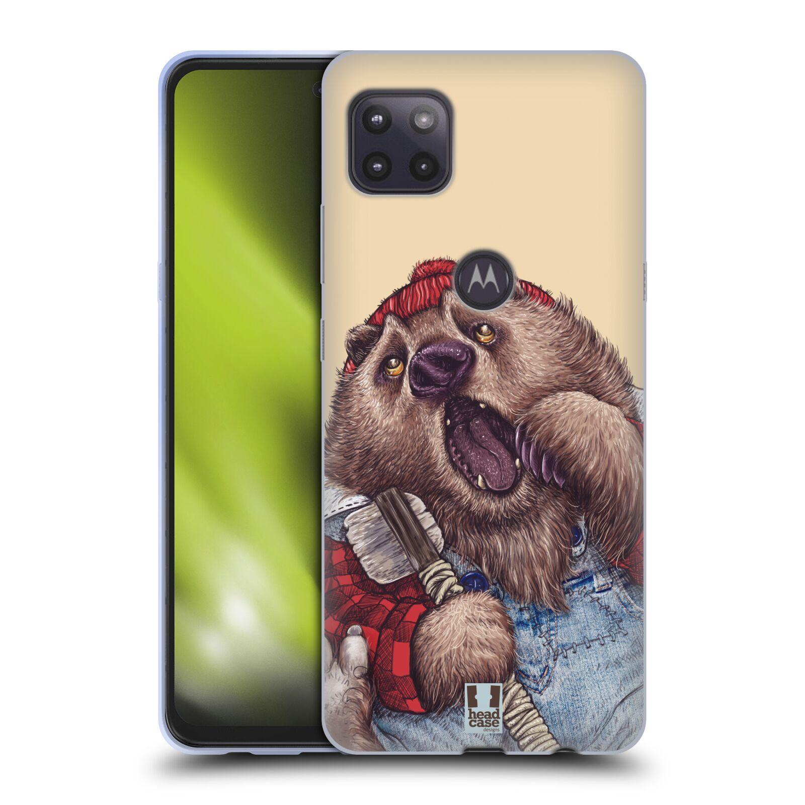 Silikonové pouzdro na mobil Motorola Moto G 5G - Head Case - ANIMPLA MEDVĚD