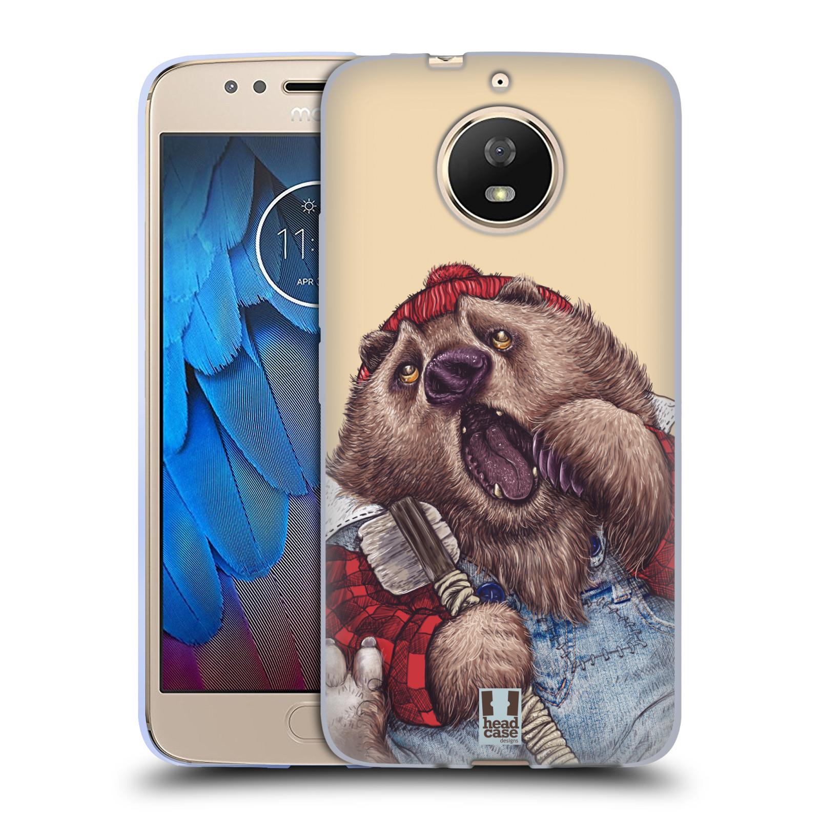 Silikonové pouzdro na mobil Lenovo Moto G5s - Head Case - ANIMPLA MEDVĚD