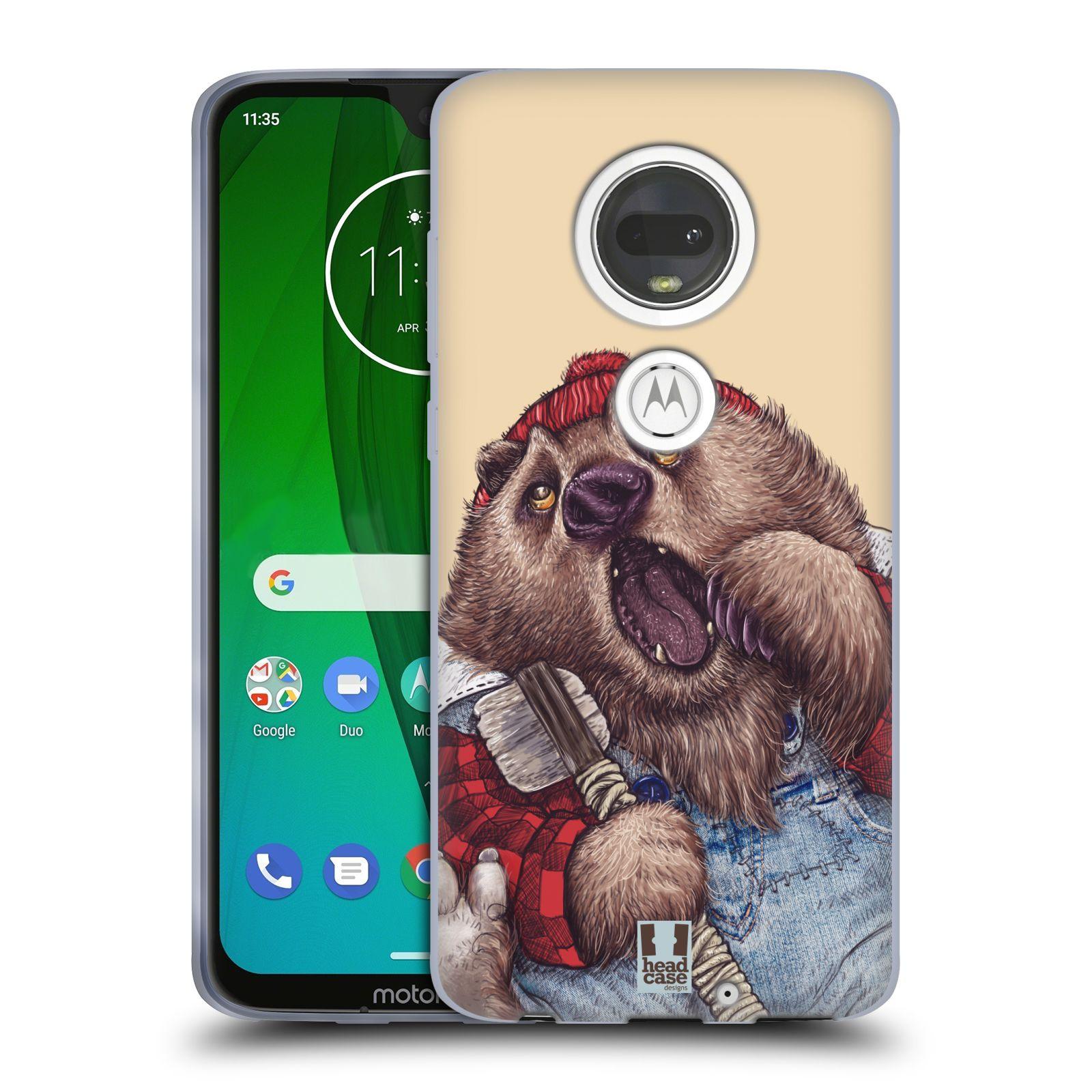 Silikonové pouzdro na mobil Motorola Moto G7 - Head Case - ANIMPLA MEDVĚD