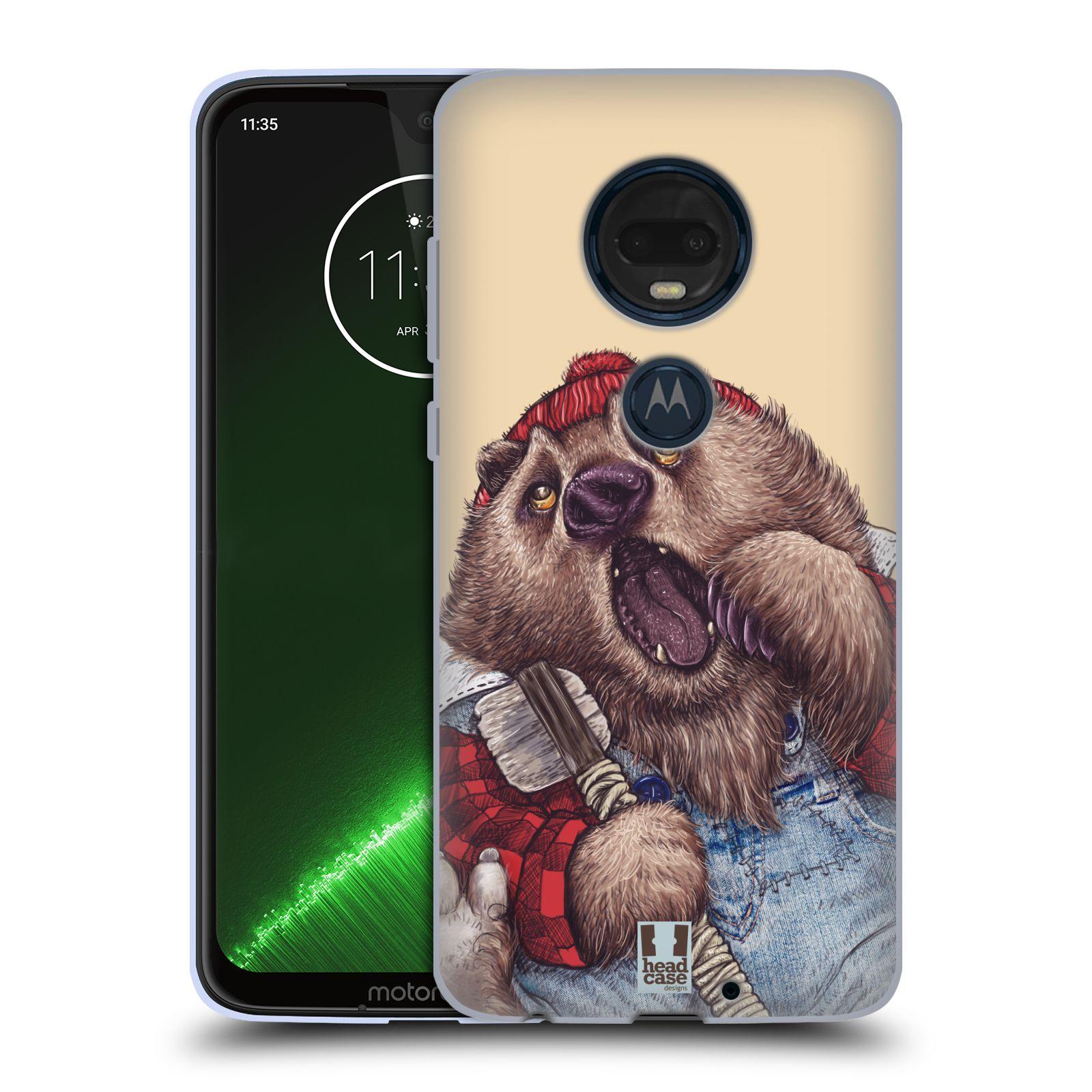 Silikonové pouzdro na mobil Motorola Moto G7 Plus - Head Case - ANIMPLA MEDVĚD