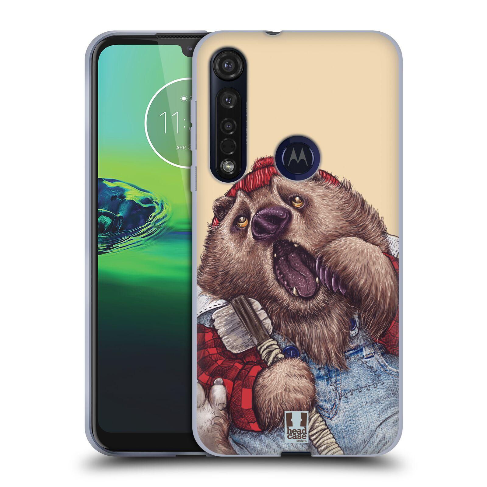 Silikonové pouzdro na mobil Motorola Moto G8 Plus - Head Case - ANIMPLA MEDVĚD