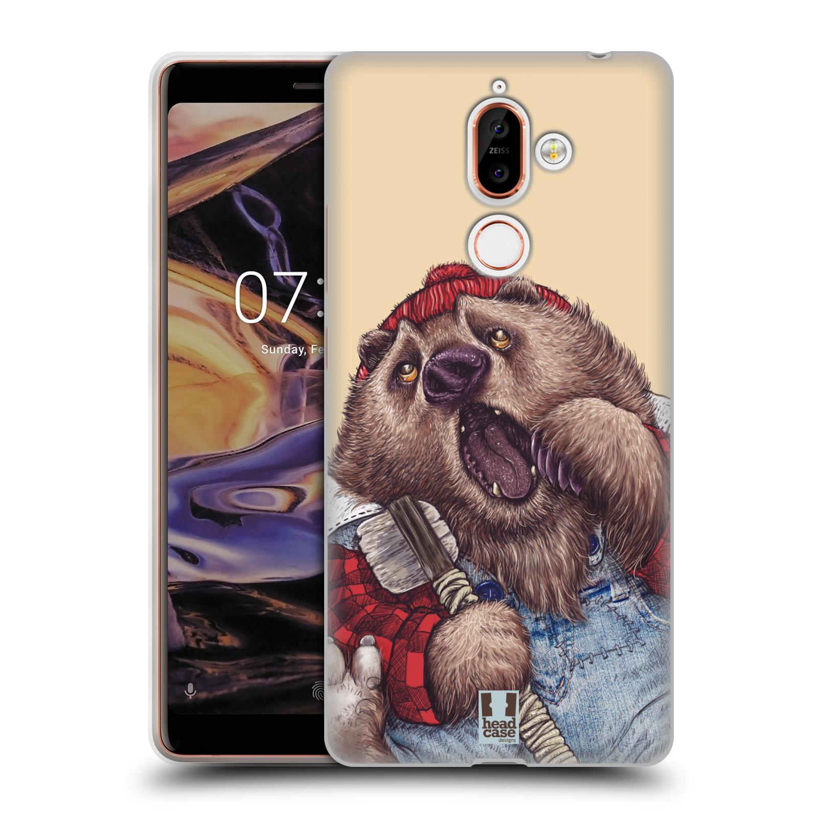 Silikonové pouzdro na mobil Nokia 7 Plus - Head Case - ANIMPLA MEDVĚD
