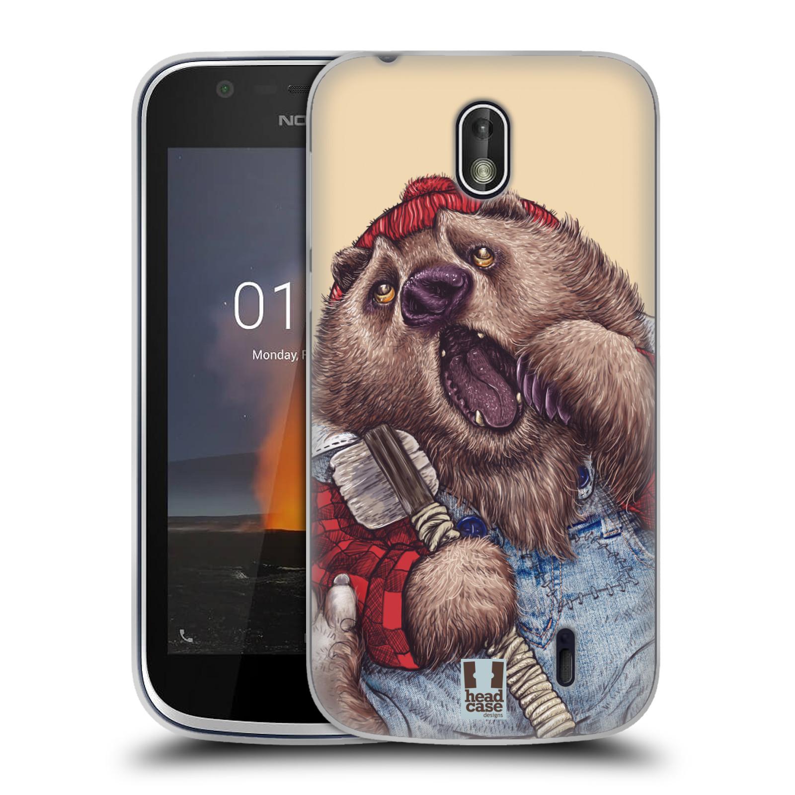 Silikonové pouzdro na mobil Nokia 1 - Head Case - ANIMPLA MEDVĚD
