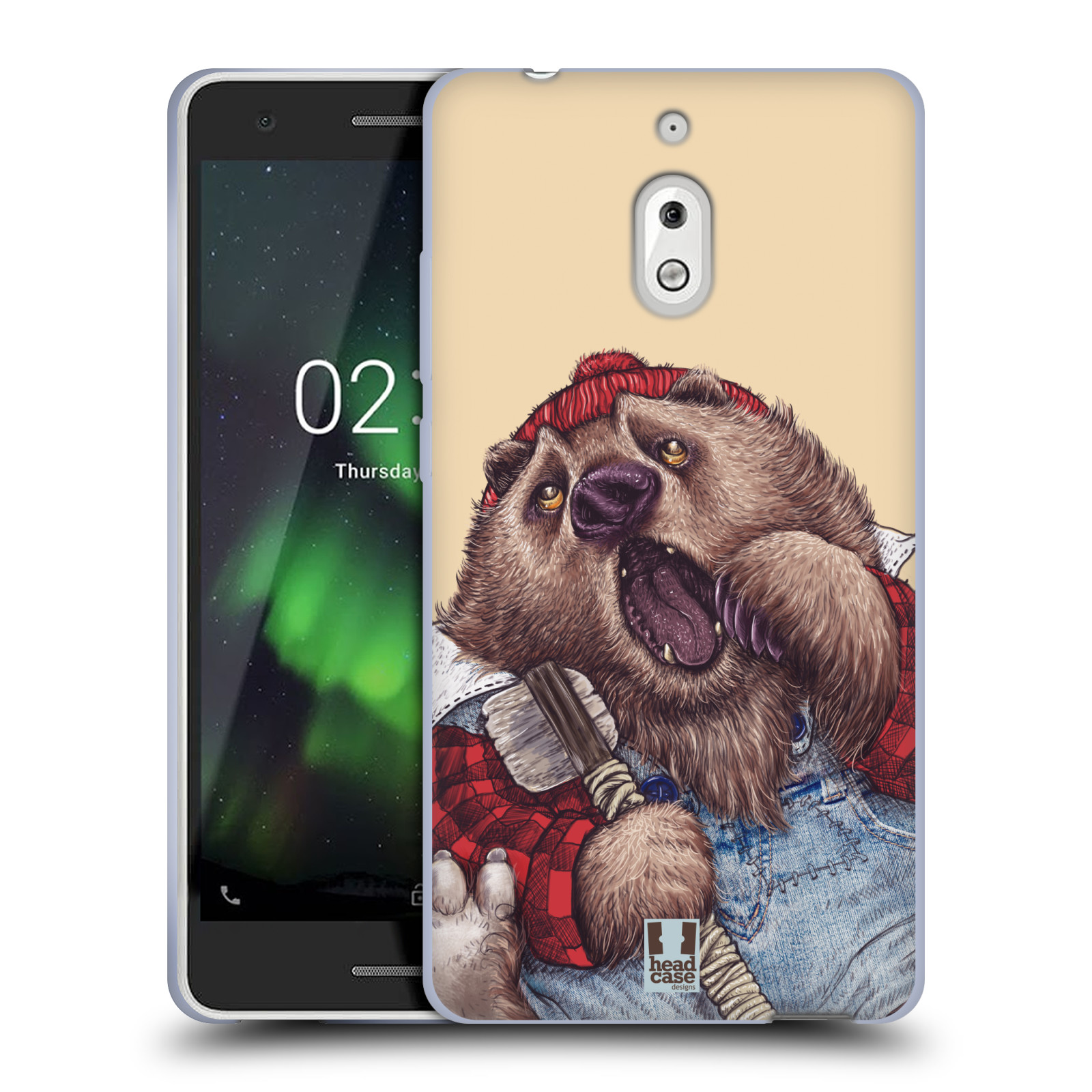 Silikonové pouzdro na mobil Nokia 2.1 - Head Case - ANIMPLA MEDVĚD