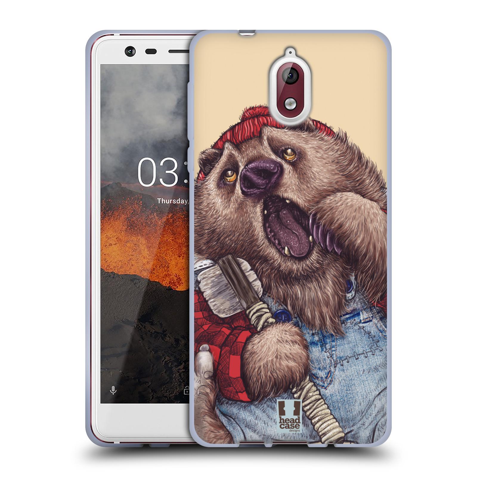 Silikonové pouzdro na mobil Nokia 3.1 - Head Case - ANIMPLA MEDVĚD