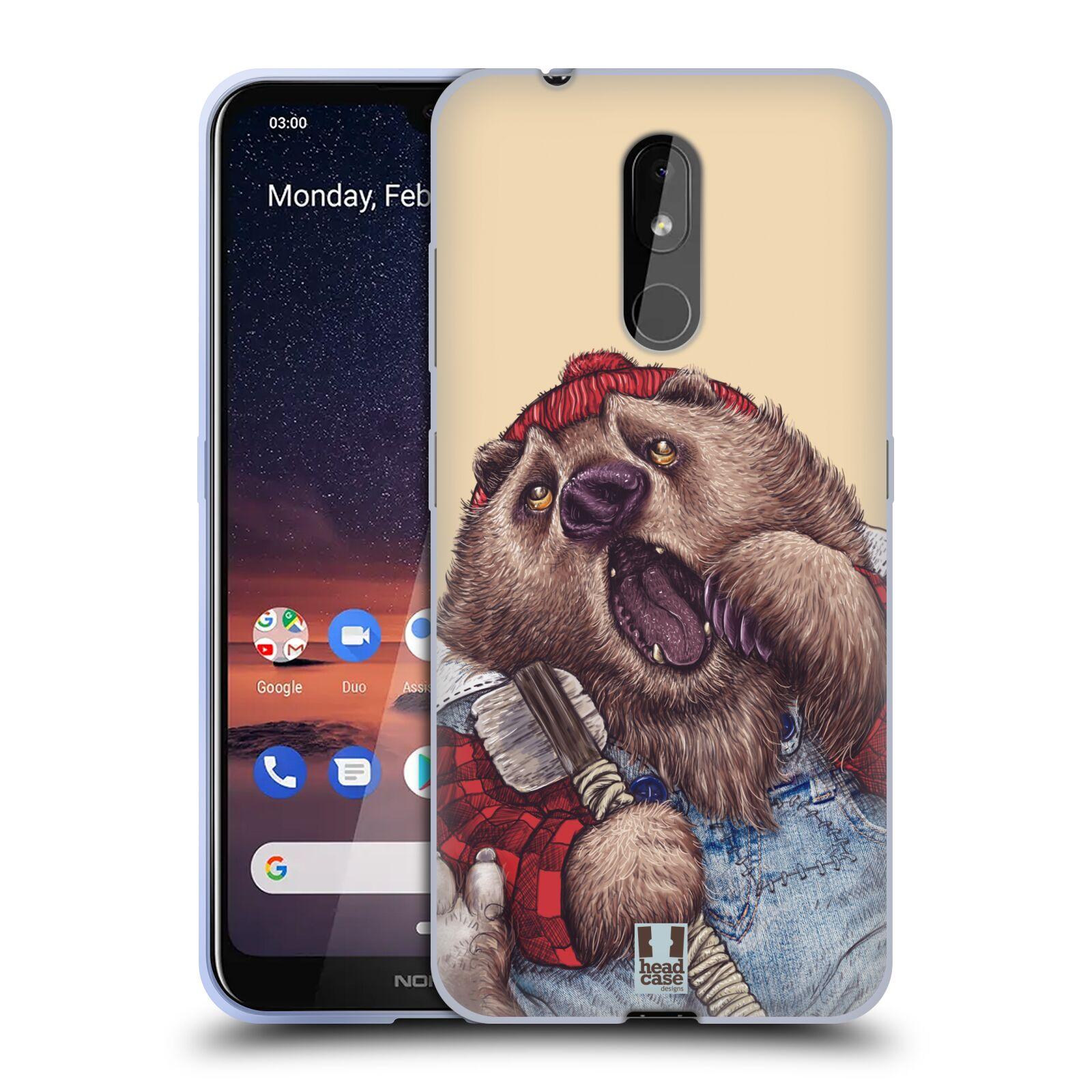 Silikonové pouzdro na mobil Nokia 3.2 - Head Case - ANIMPLA MEDVĚD