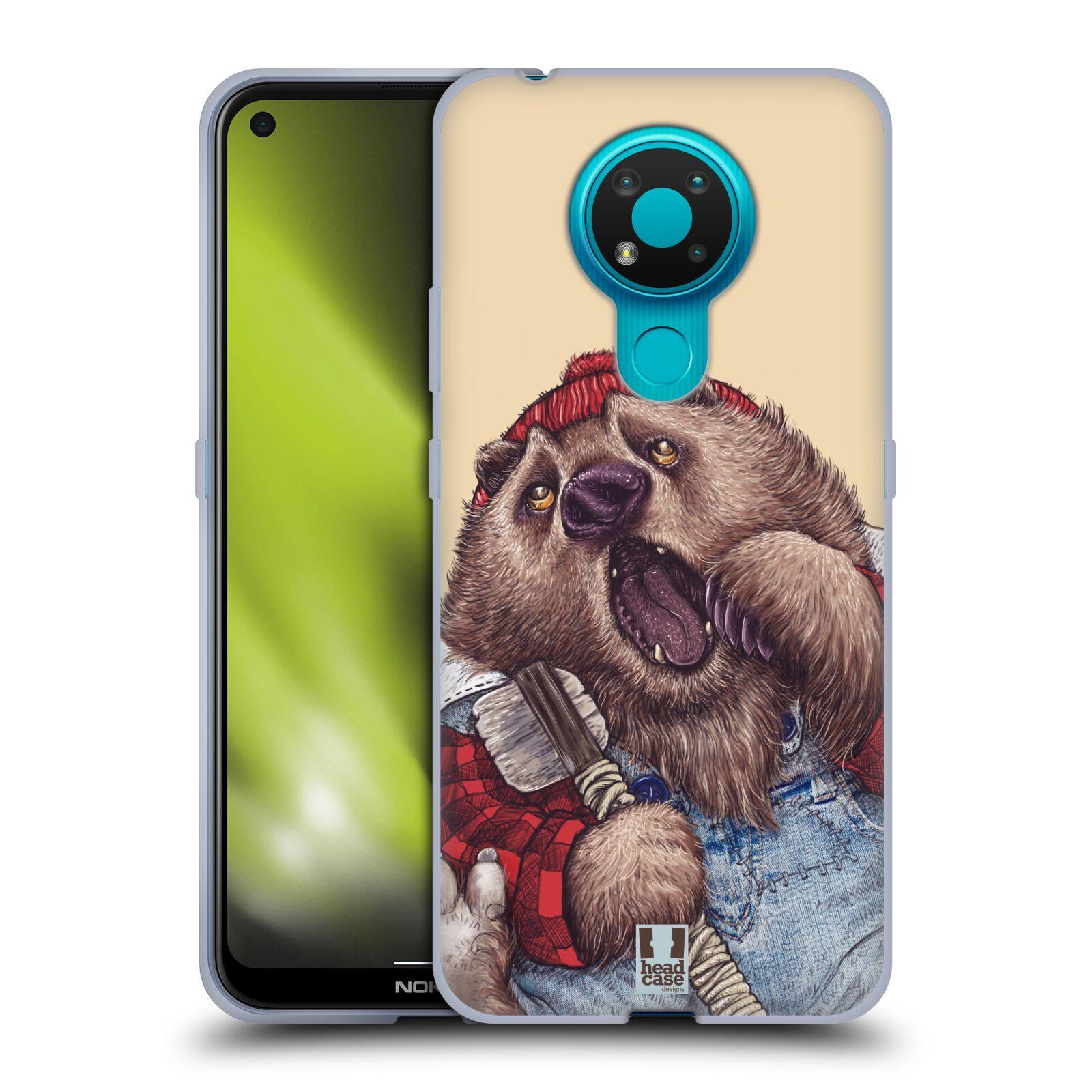 Silikonové pouzdro na mobil Nokia 3.4 - Head Case - ANIMPLA MEDVĚD