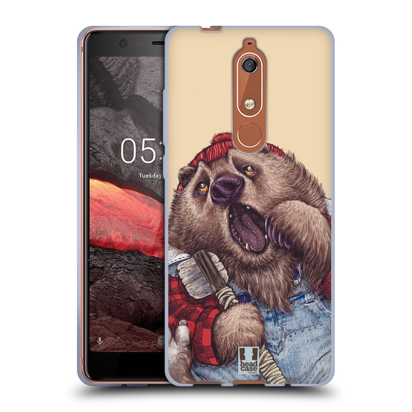 Silikonové pouzdro na mobil Nokia 5.1 - Head Case - ANIMPLA MEDVĚD