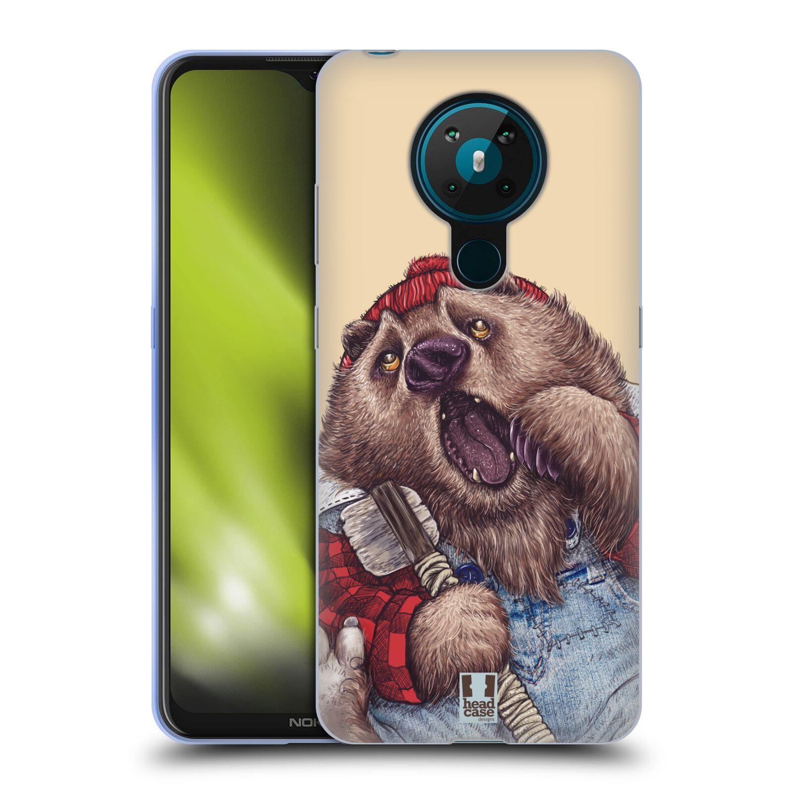 Silikonové pouzdro na mobil Nokia 5.3 - Head Case - ANIMPLA MEDVĚD