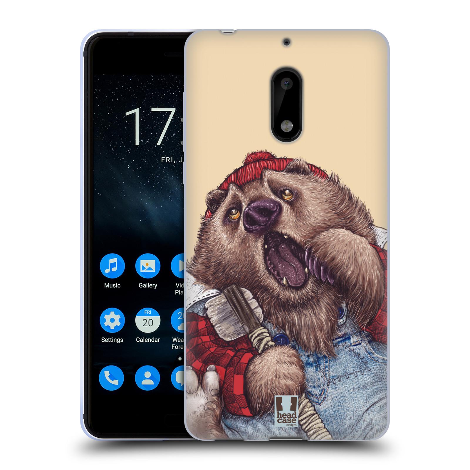 Silikonové pouzdro na mobil Nokia 6 - Head Case - ANIMPLA MEDVĚD