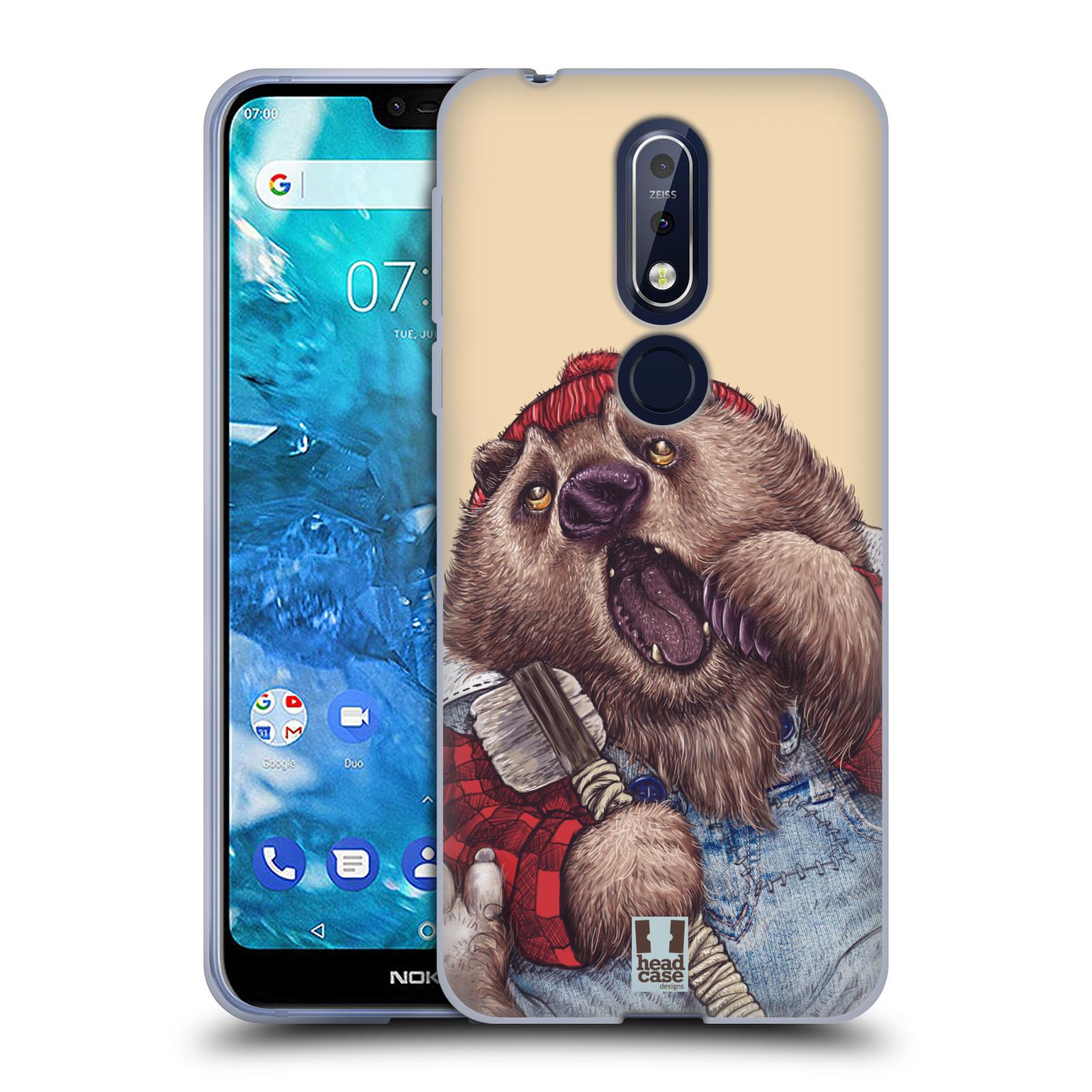 Silikonové pouzdro na mobil Nokia 7.1 - Head Case - ANIMPLA MEDVĚD