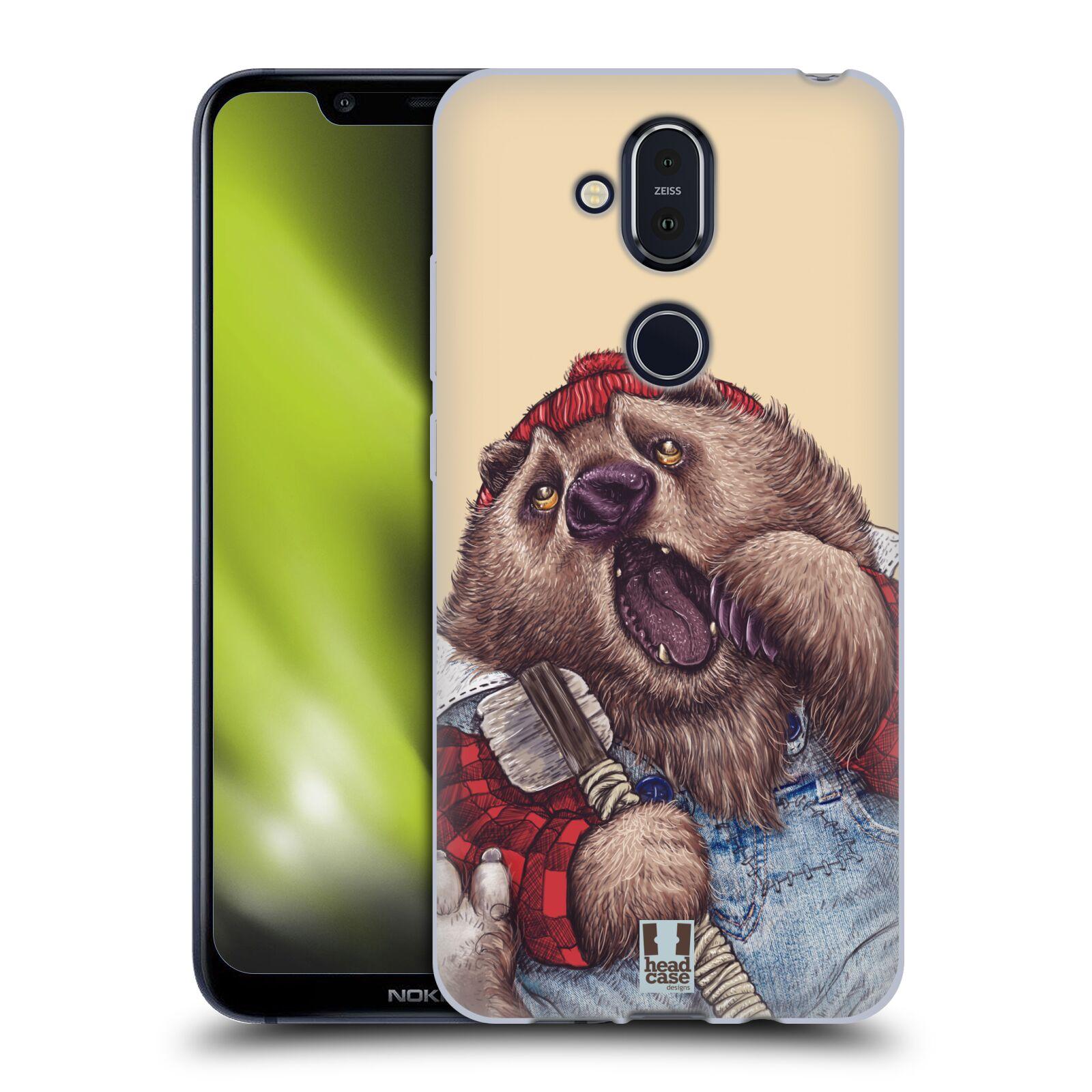 Silikonové pouzdro na mobil Nokia 8.1 - Head Case - ANIMPLA MEDVĚD