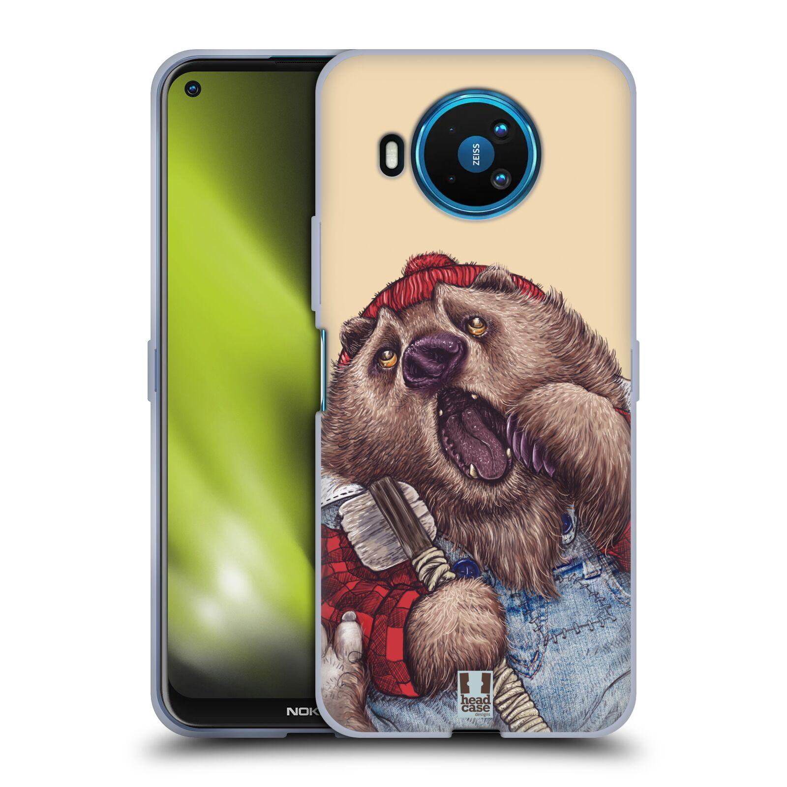 Silikonové pouzdro na mobil Nokia 8.3 5G - Head Case - ANIMPLA MEDVĚD