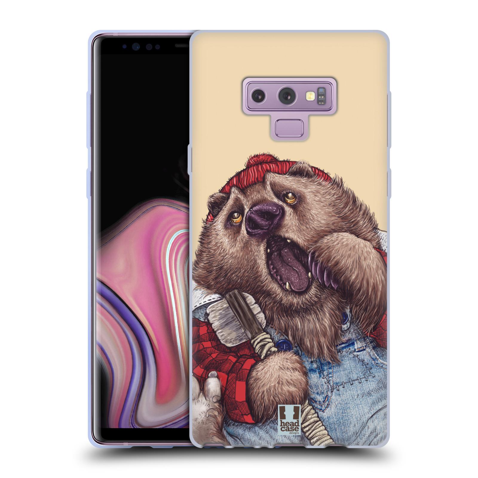 Silikonové pouzdro na mobil Samsung Galaxy Note 9 - Head Case - ANIMPLA MEDVĚD