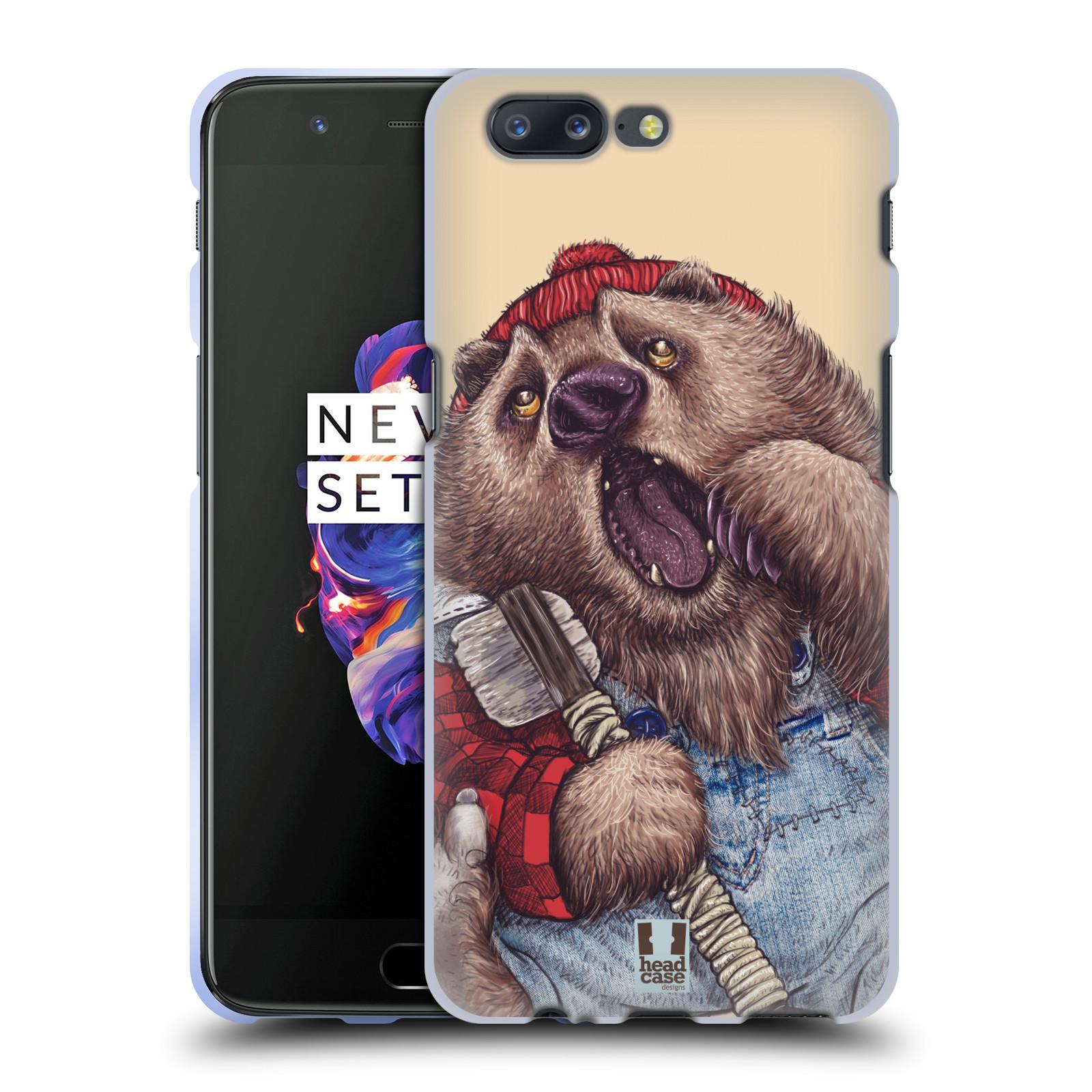 Silikonové pouzdro na mobil OnePlus 5 - Head Case - ANIMPLA MEDVĚD