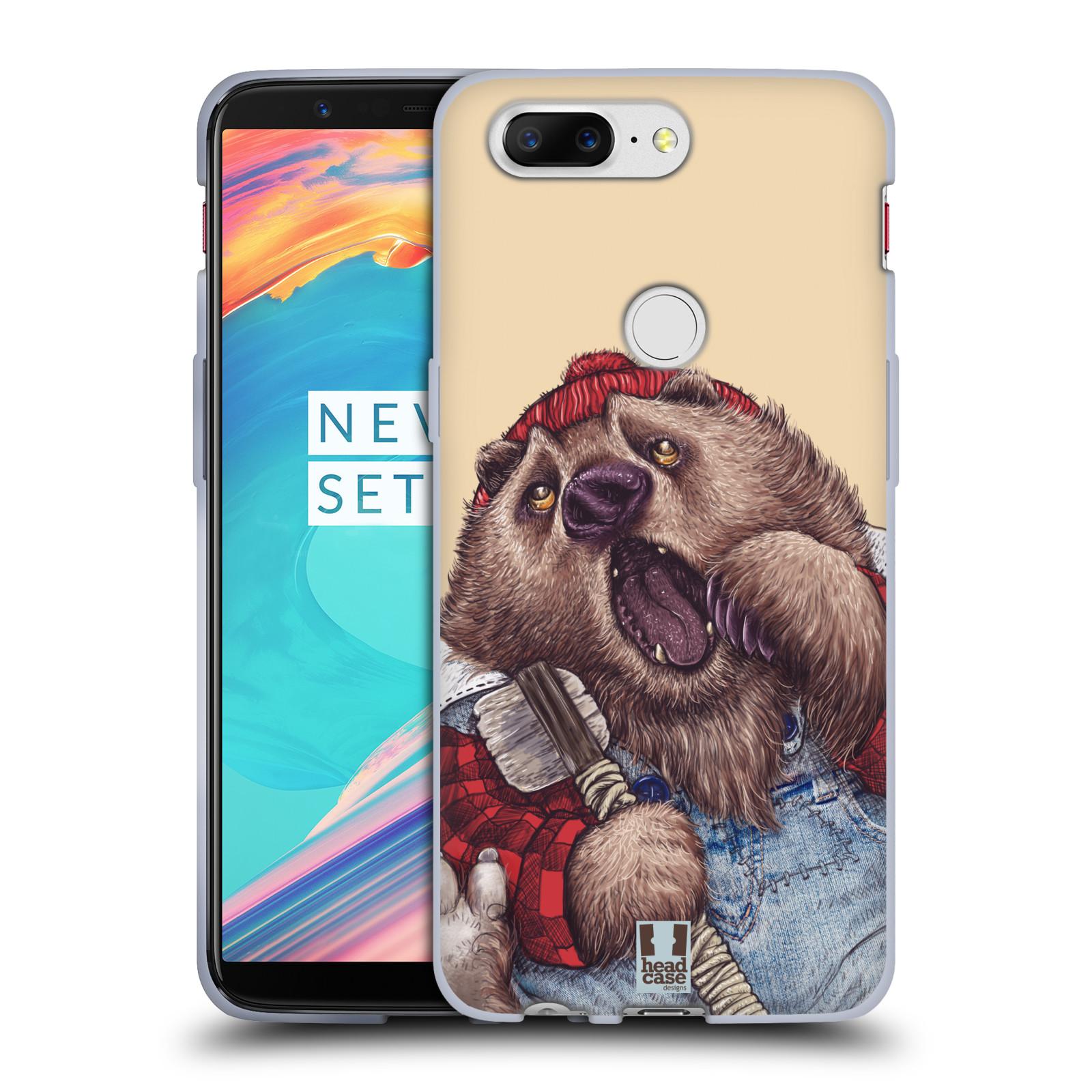 Silikonové pouzdro na mobil OnePlus 5T - Head Case - ANIMPLA MEDVĚD