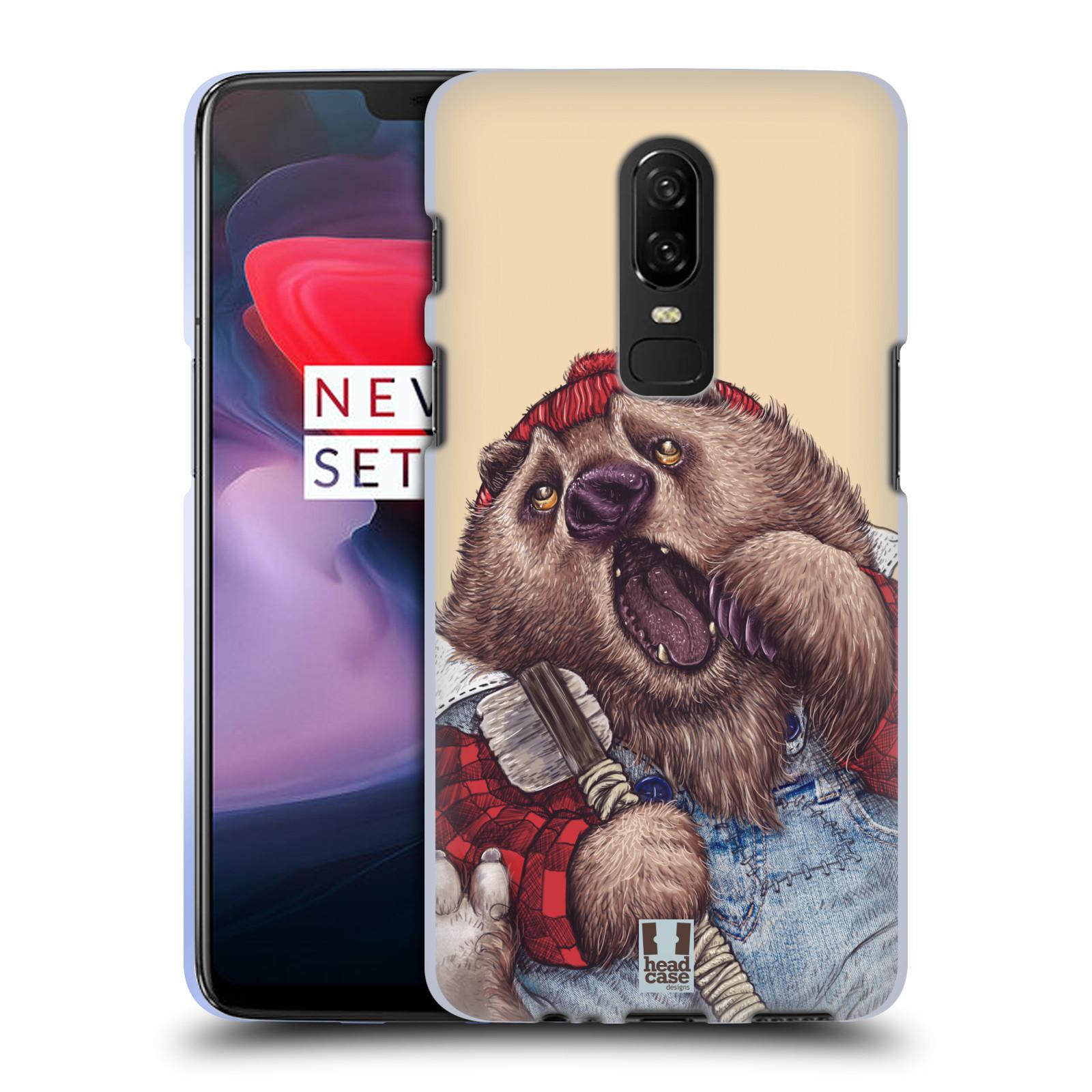 Silikonové pouzdro na mobil OnePlus 6 - Head Case - ANIMPLA MEDVĚD