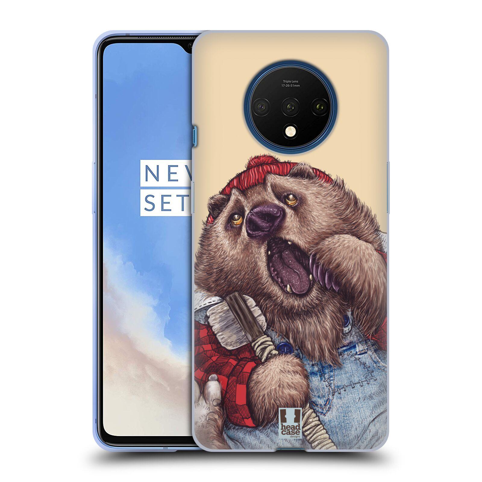 Silikonové pouzdro na mobil OnePlus 7T - Head Case - ANIMPLA MEDVĚD