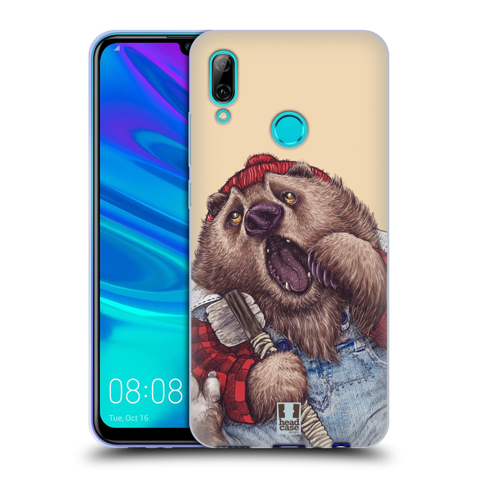 Silikonové pouzdro na mobil Huawei P Smart (2019) - Head Case - ANIMPLA MEDVĚD