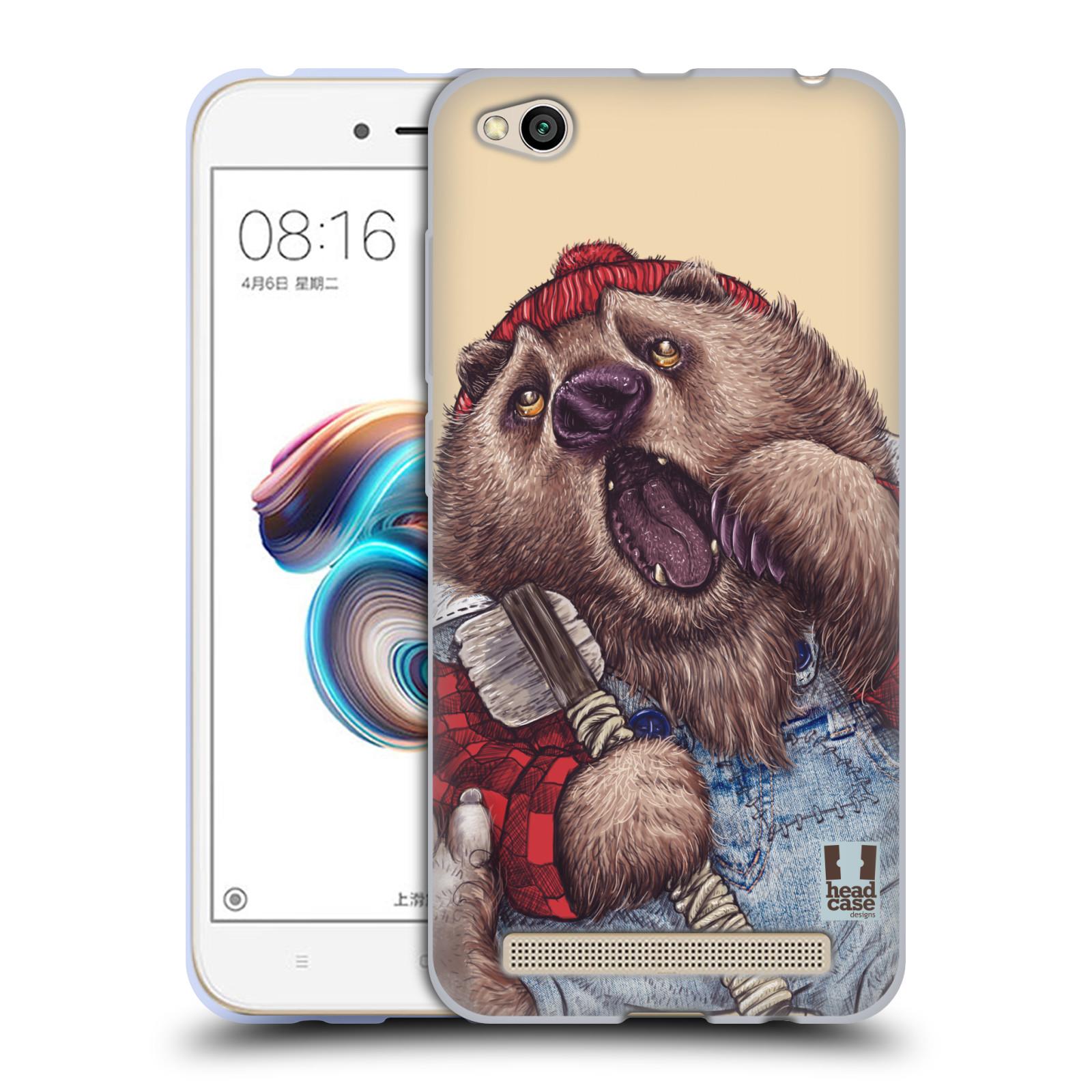 Silikonové pouzdro na mobil Xiaomi Redmi 5A - Head Case - ANIMPLA MEDVĚD