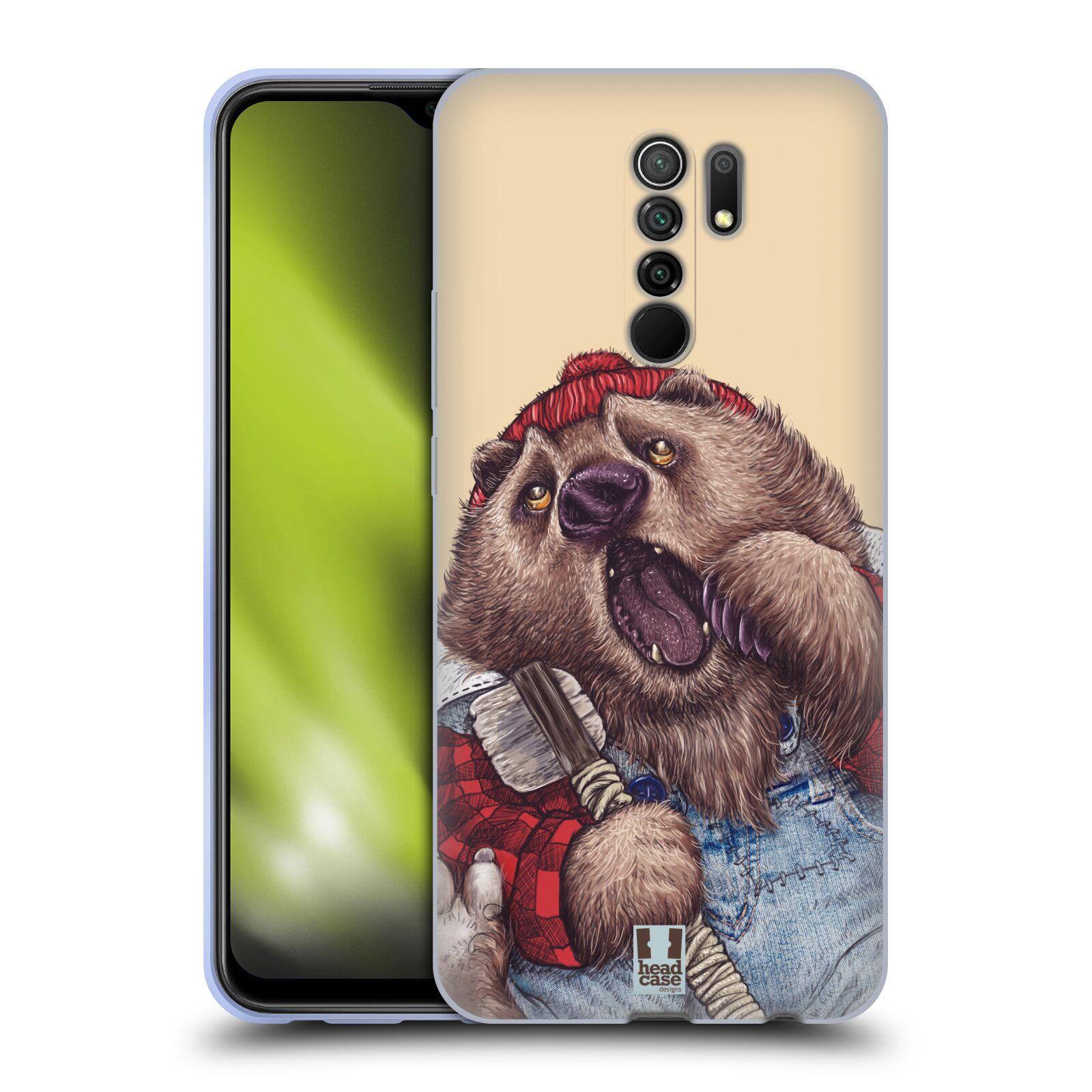 Silikonové pouzdro na mobil Xiaomi Redmi 9 - Head Case - ANIMPLA MEDVĚD