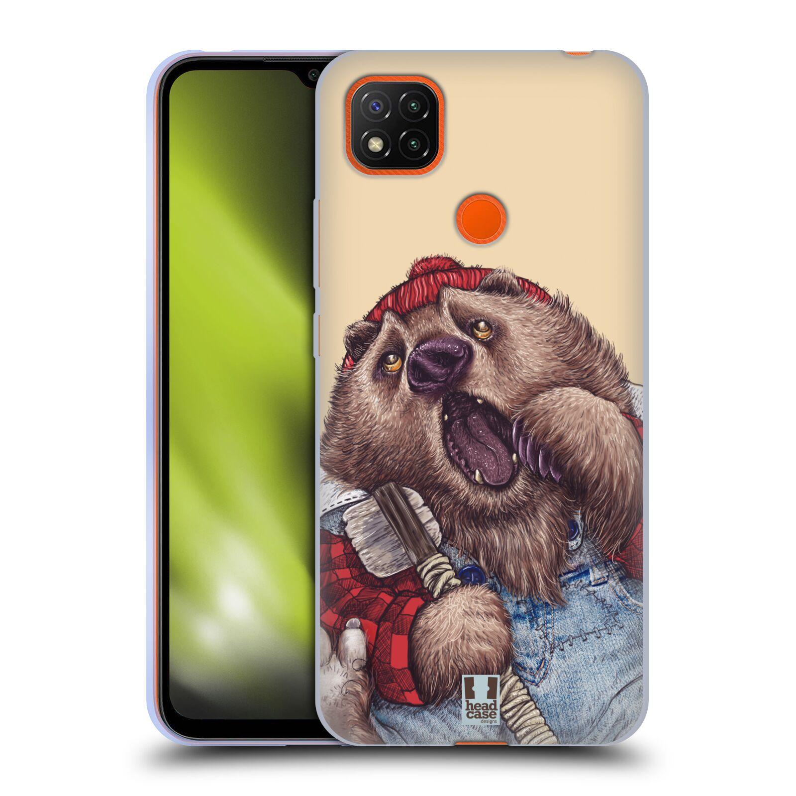 Silikonové pouzdro na mobil Xiaomi Redmi 9C - Head Case - ANIMPLA MEDVĚD