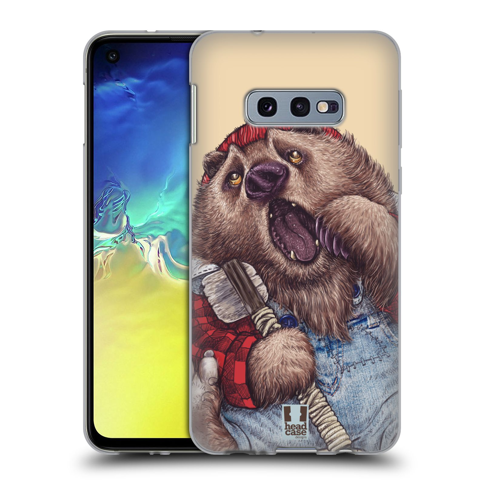 Silikonové pouzdro na mobil Samsung Galaxy S10e - Head Case - ANIMPLA MEDVĚD
