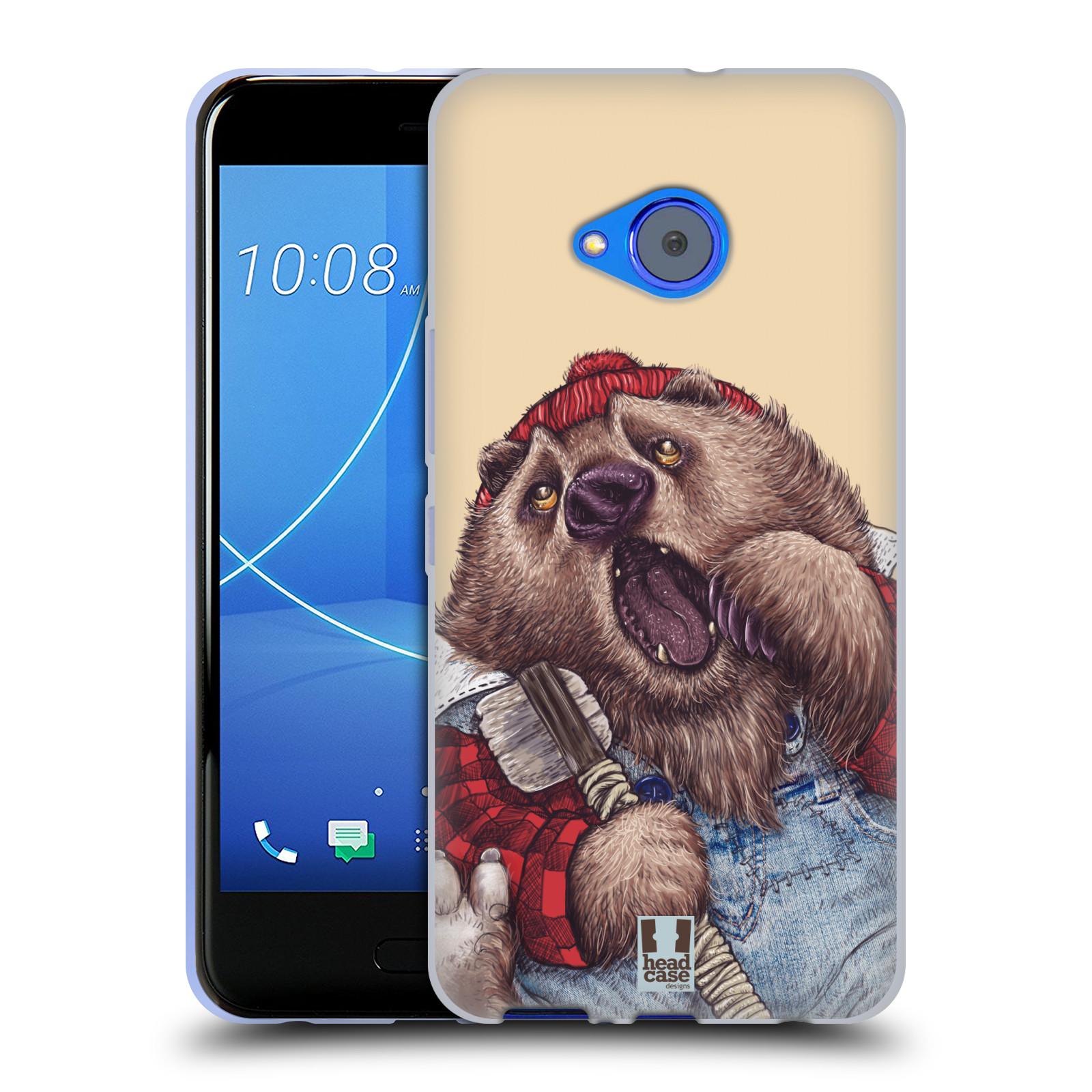 Silikonové pouzdro na mobil HTC U11 Life - Head Case - ANIMPLA MEDVĚD