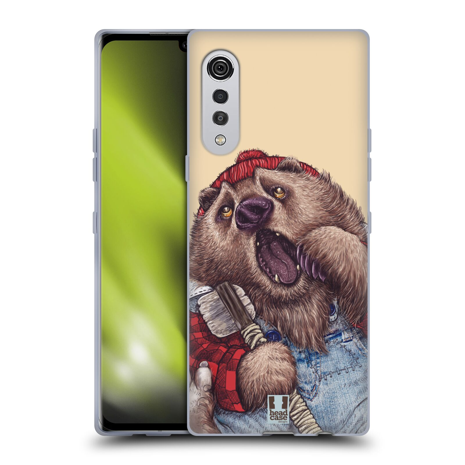 Silikonové pouzdro na mobil LG Velvet - Head Case - ANIMPLA MEDVĚD