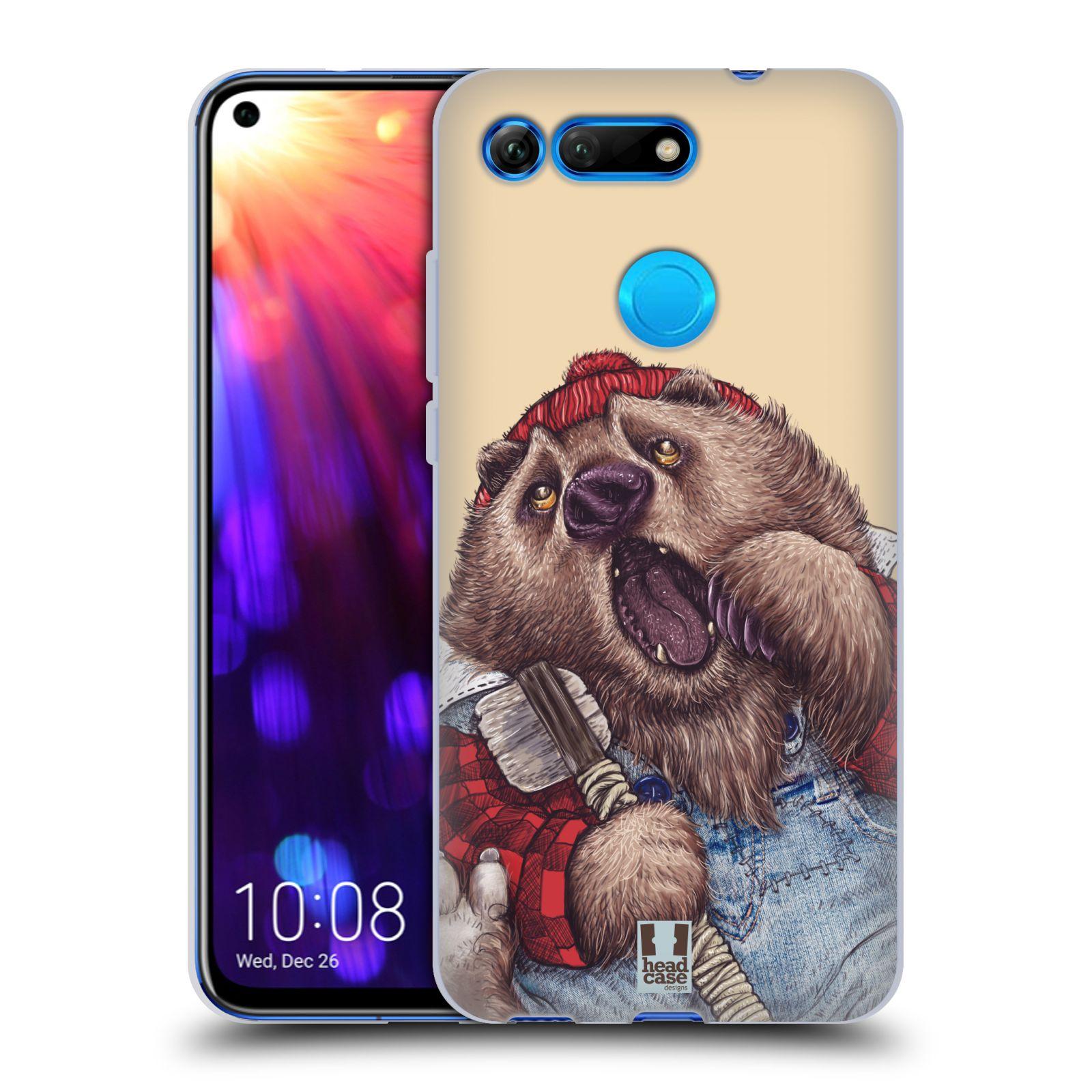 Silikonové pouzdro na mobil Honor View 20 - Head Case - ANIMPLA MEDVĚD