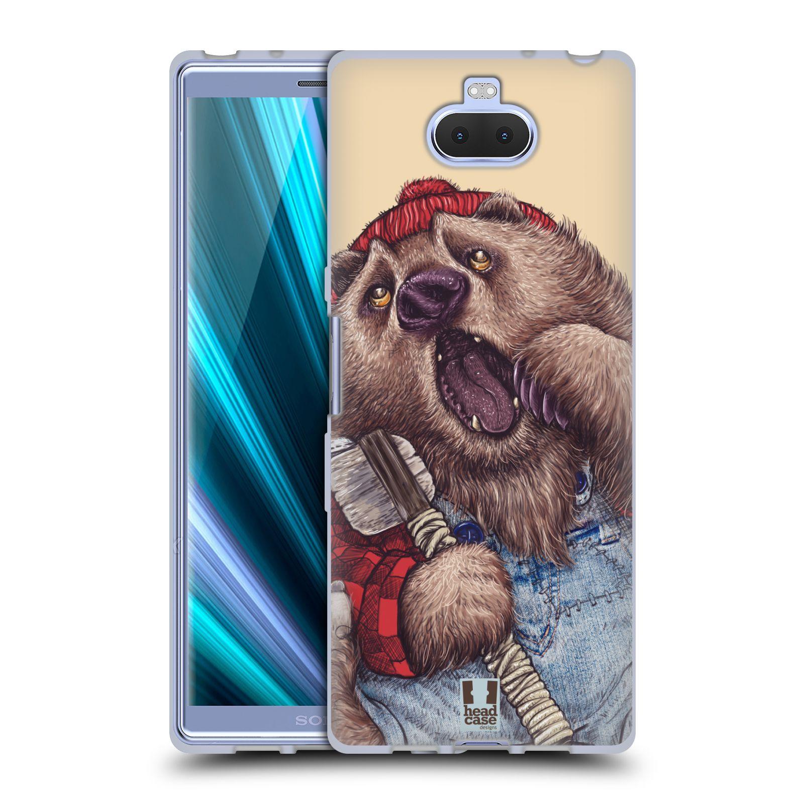 Silikonové pouzdro na mobil Sony Xperia 10 - Head Case - ANIMPLA MEDVĚD