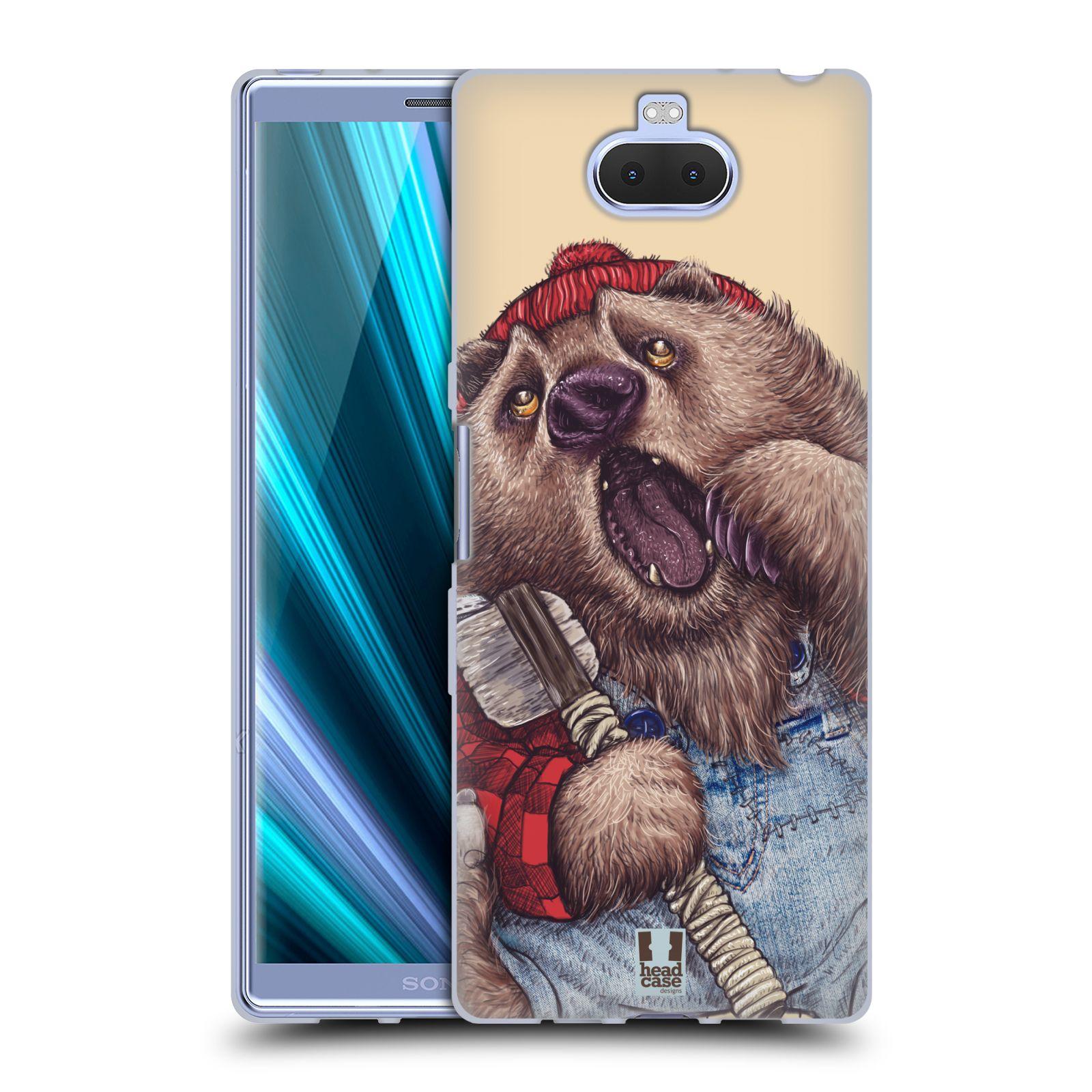 Silikonové pouzdro na mobil Sony Xperia 10 Plus - Head Case - ANIMPLA MEDVĚD