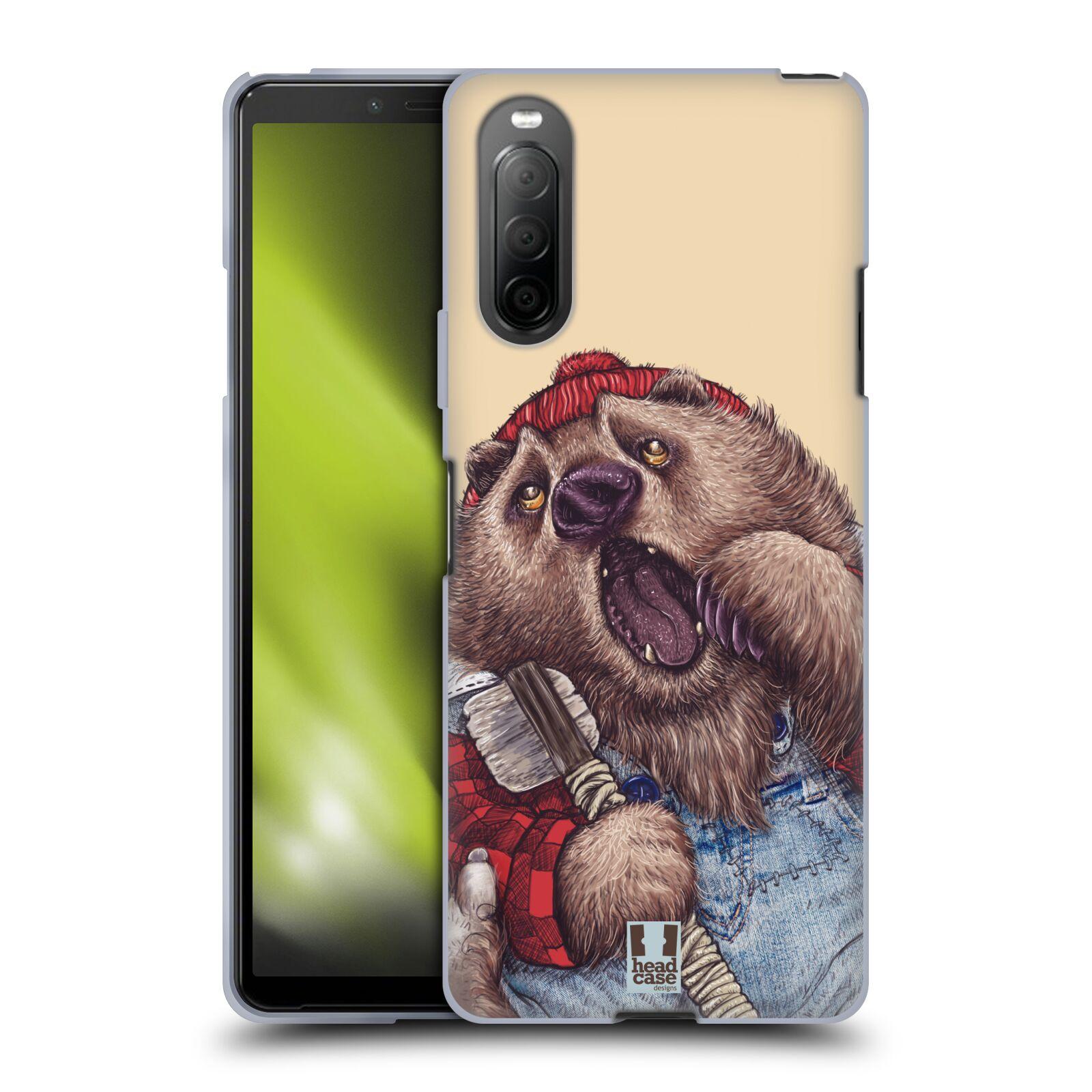 Silikonové pouzdro na mobil Sony Xperia 10 II - Head Case - ANIMPLA MEDVĚD