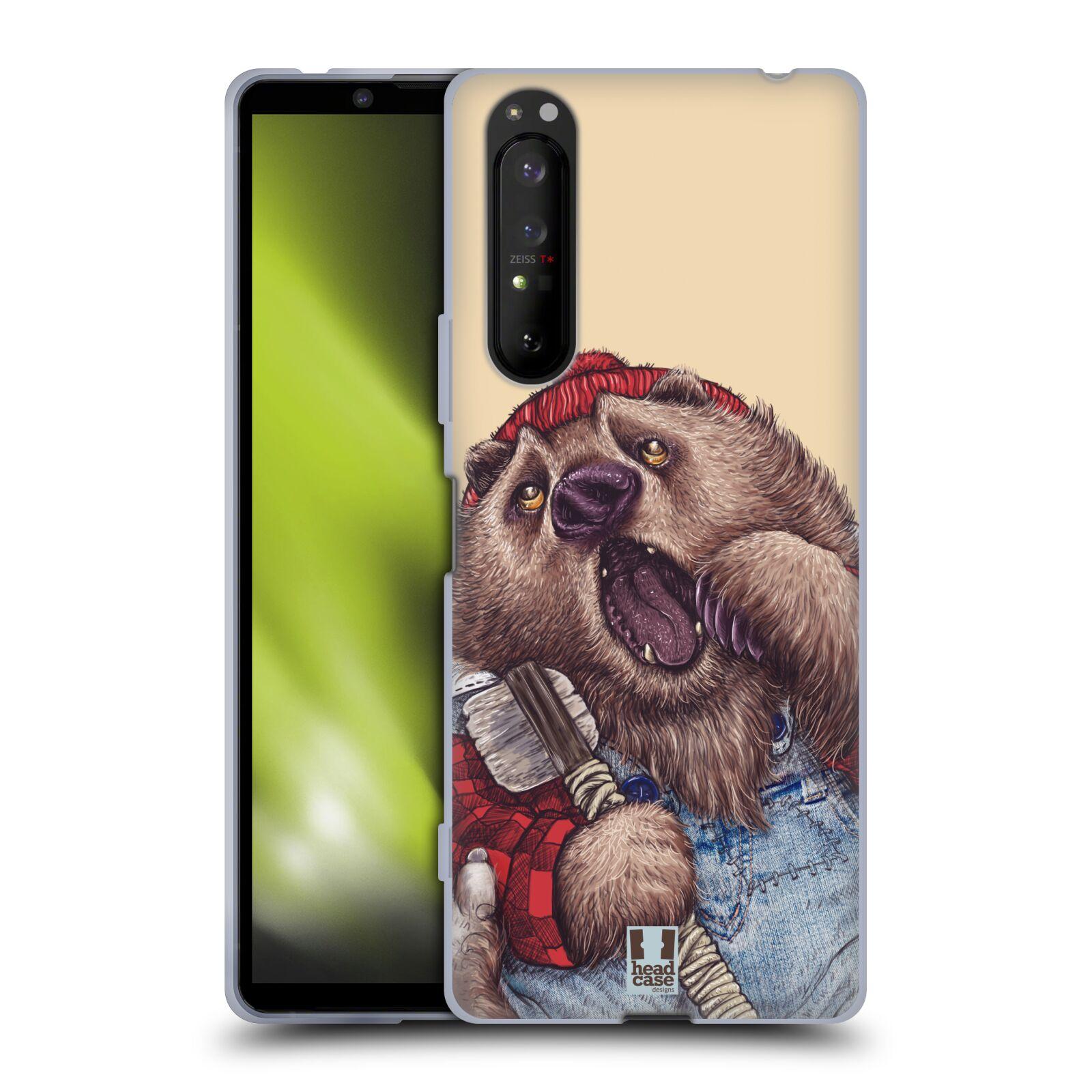 Silikonové pouzdro na mobil Sony Xperia 1 II - Head Case - ANIMPLA MEDVĚD