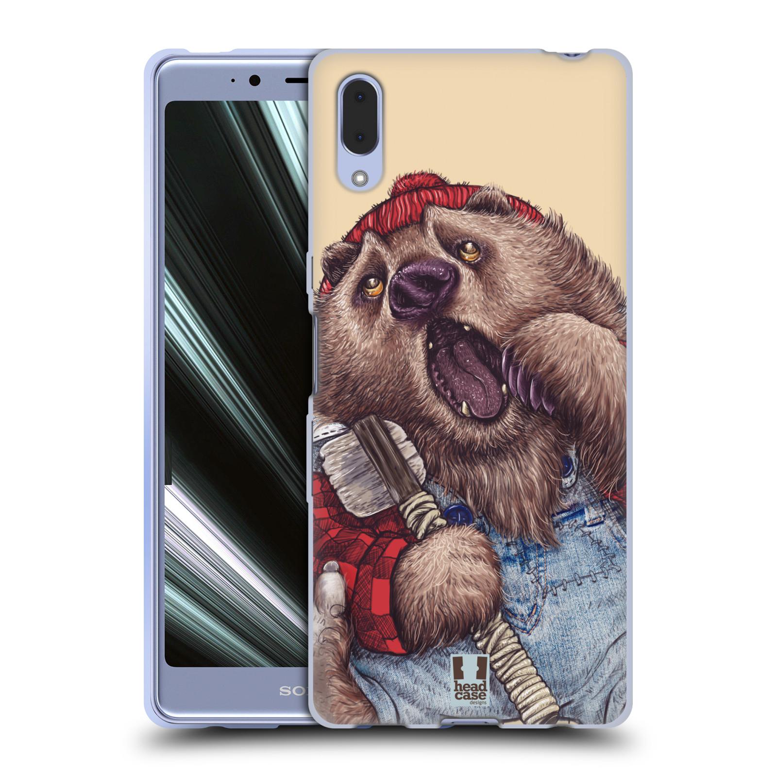 Silikonové pouzdro na mobil Sony Xperia L3 - Head Case - ANIMPLA MEDVĚD