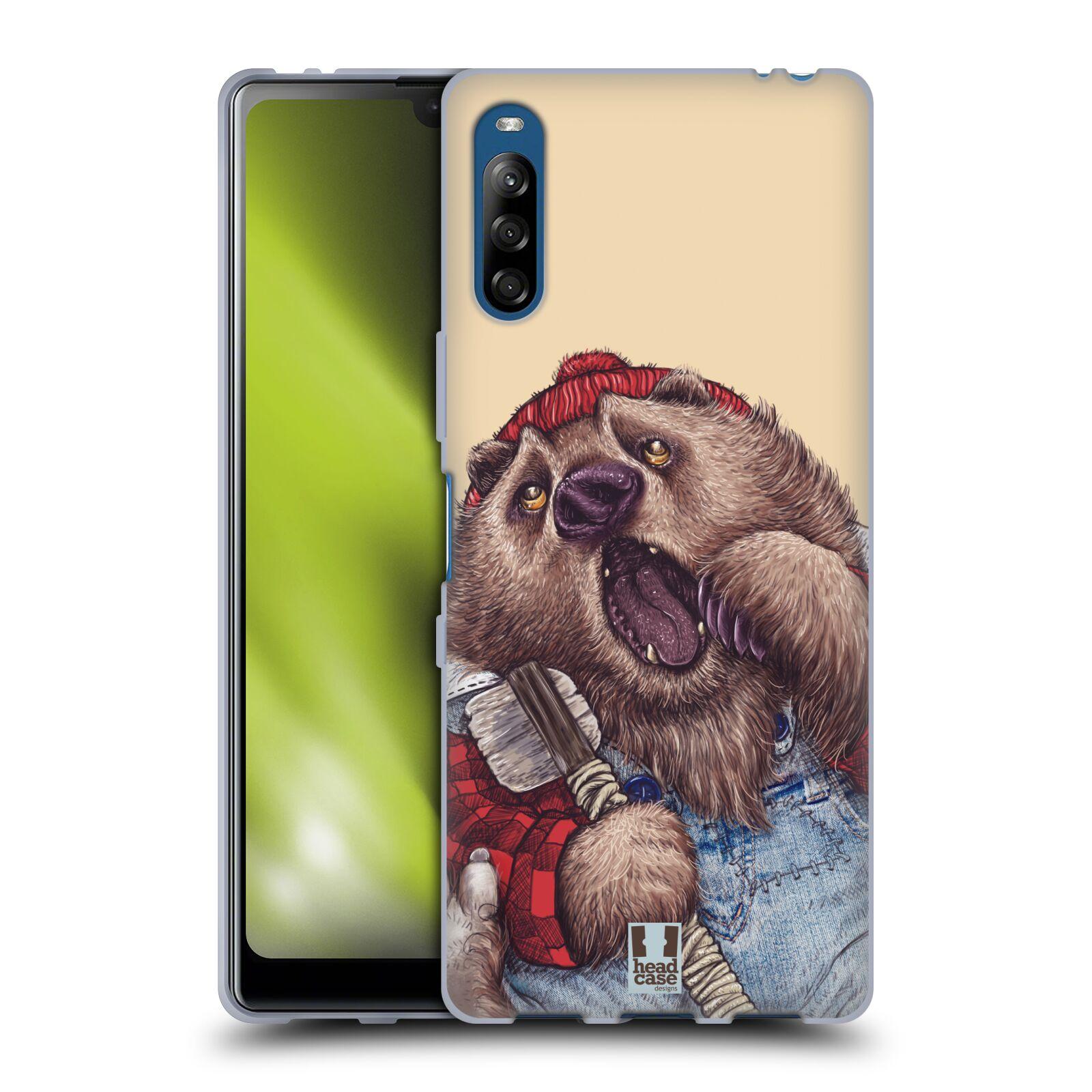 Silikonové pouzdro na mobil Sony Xperia L4 - Head Case - ANIMPLA MEDVĚD