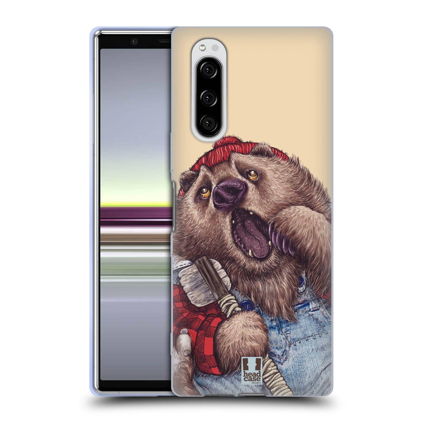 Silikonové pouzdro na mobil Sony Xperia 5 - Head Case - ANIMPLA MEDVĚD