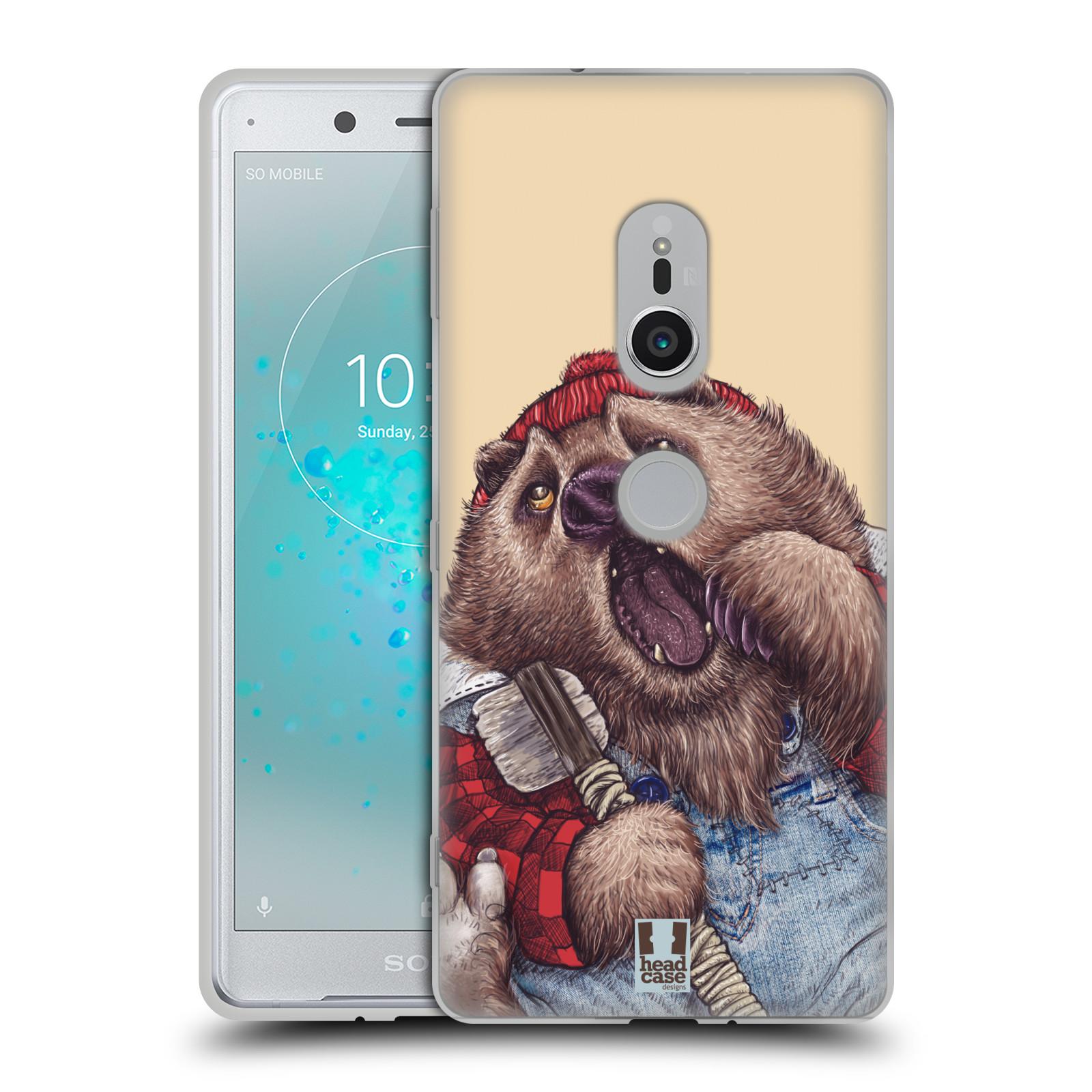 Silikonové pouzdro na mobil Sony Xperia XZ2 - Head Case - ANIMPLA MEDVĚD