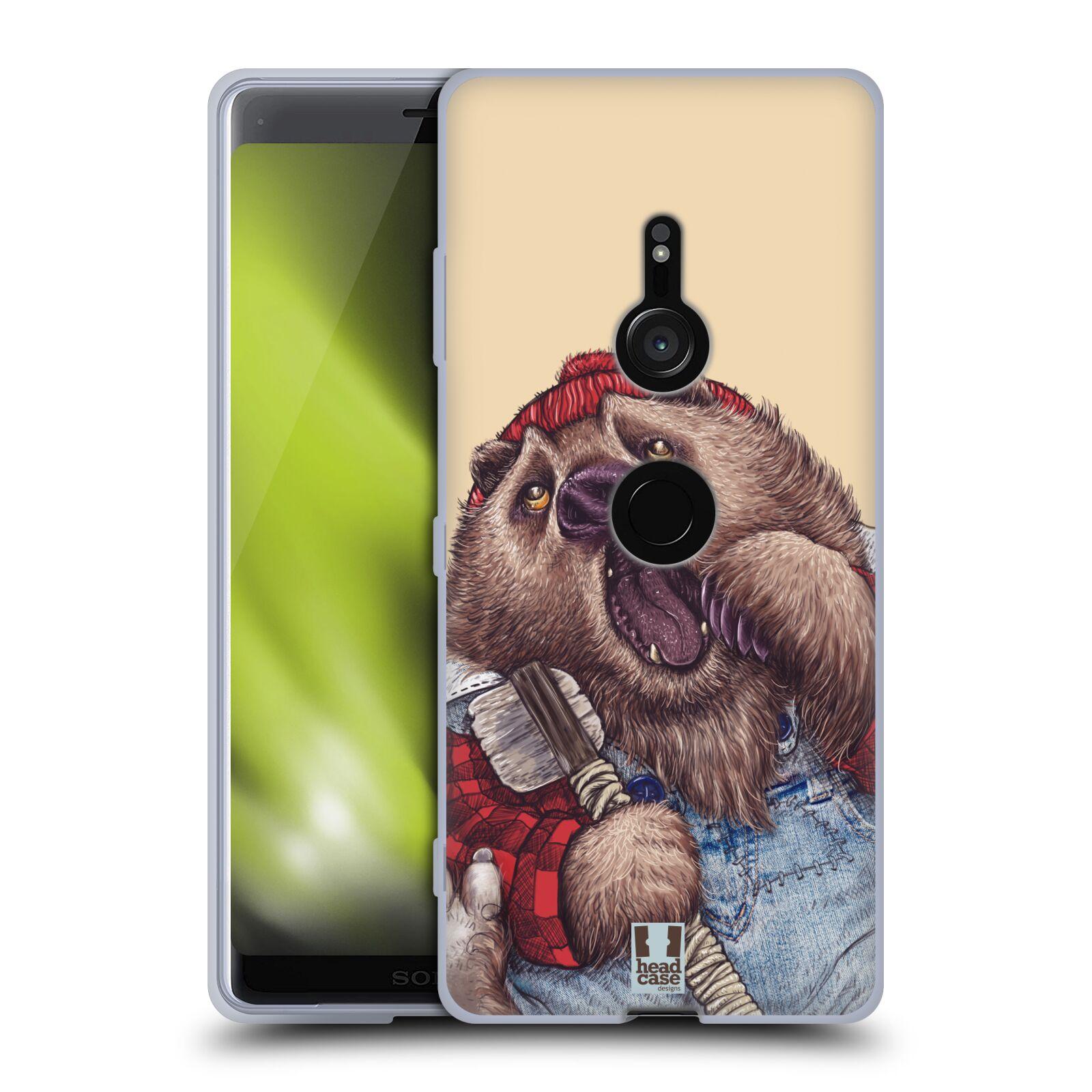 Silikonové pouzdro na mobil Sony Xperia XZ3 - Head Case - ANIMPLA MEDVĚD