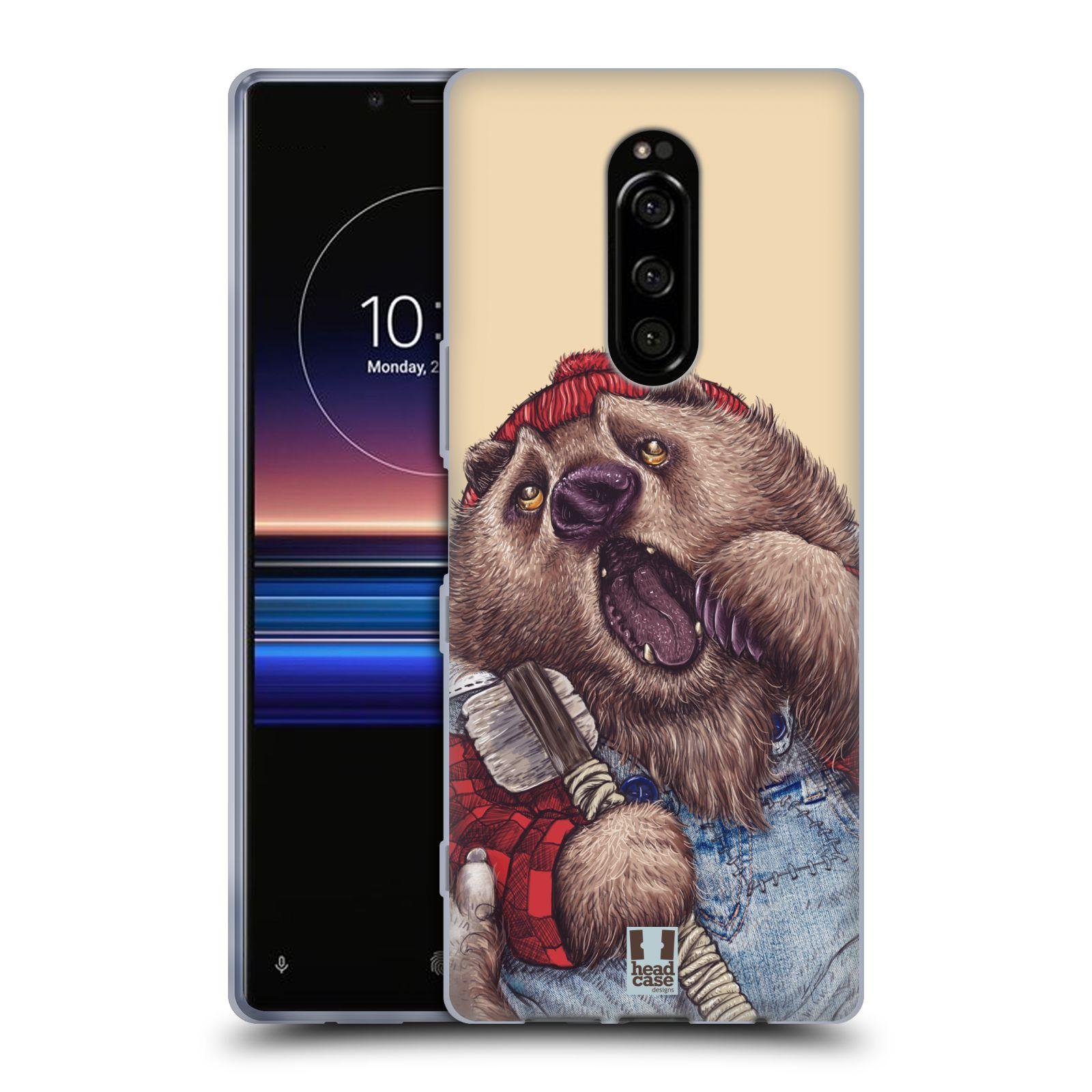 Silikonové pouzdro na mobil Sony Xperia 1 - Head Case - ANIMPLA MEDVĚD
