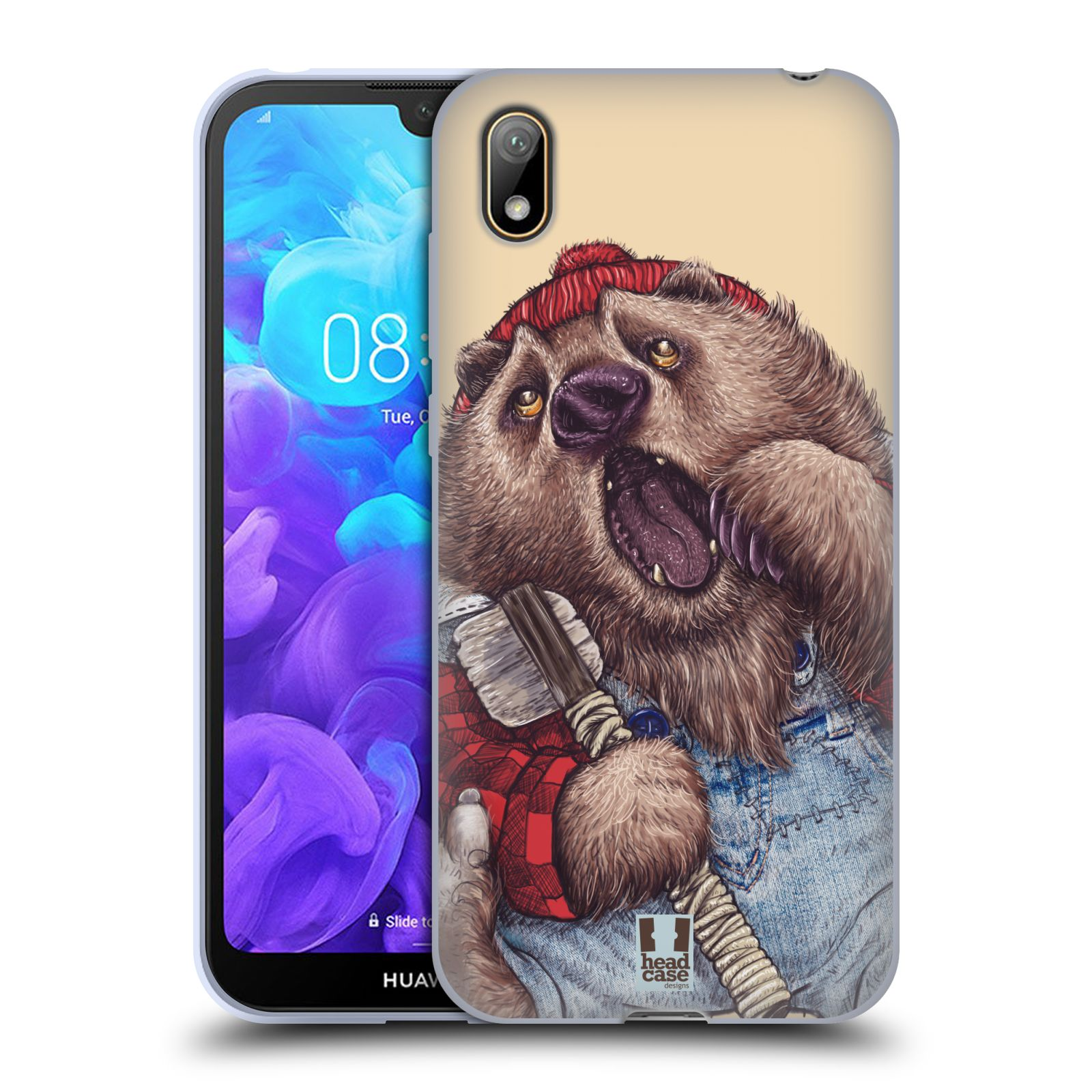 Silikonové pouzdro na mobil Huawei Y5 (2019) - Head Case - ANIMPLA MEDVĚD