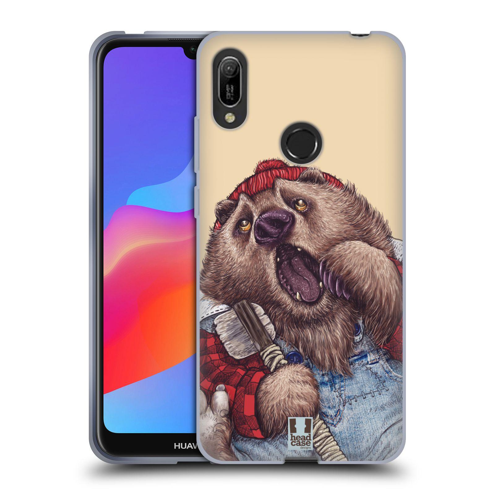 Silikonové pouzdro na mobil Huawei Y6 (2019) - Head Case - ANIMPLA MEDVĚD