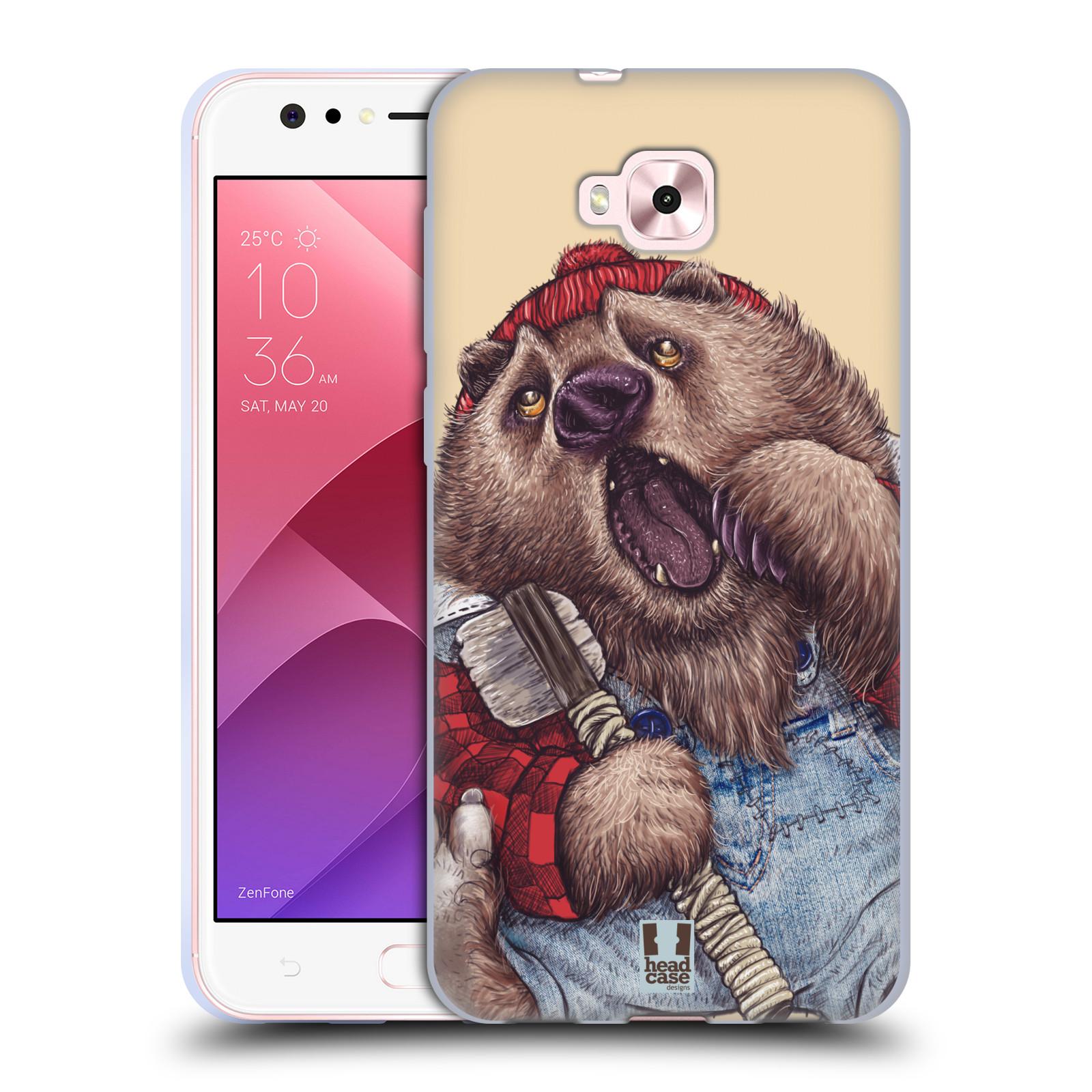 Silikonové pouzdro na mobil Asus Zenfone 4 Selfie ZD553KL - Head Case - ANIMPLA MEDVĚD