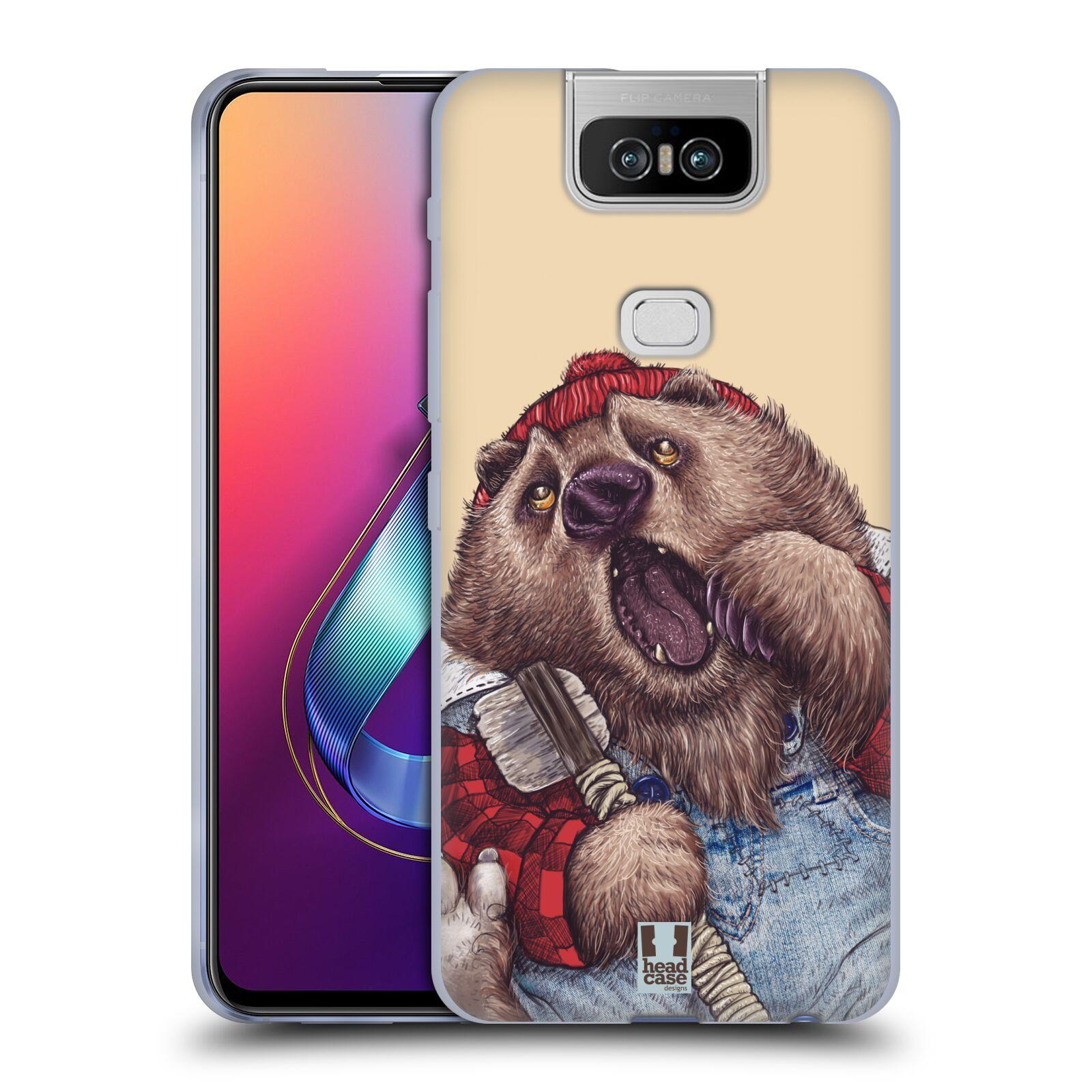 Silikonové pouzdro na mobil Asus Zenfone 6 ZS630KL - Head Case - ANIMPLA MEDVĚD