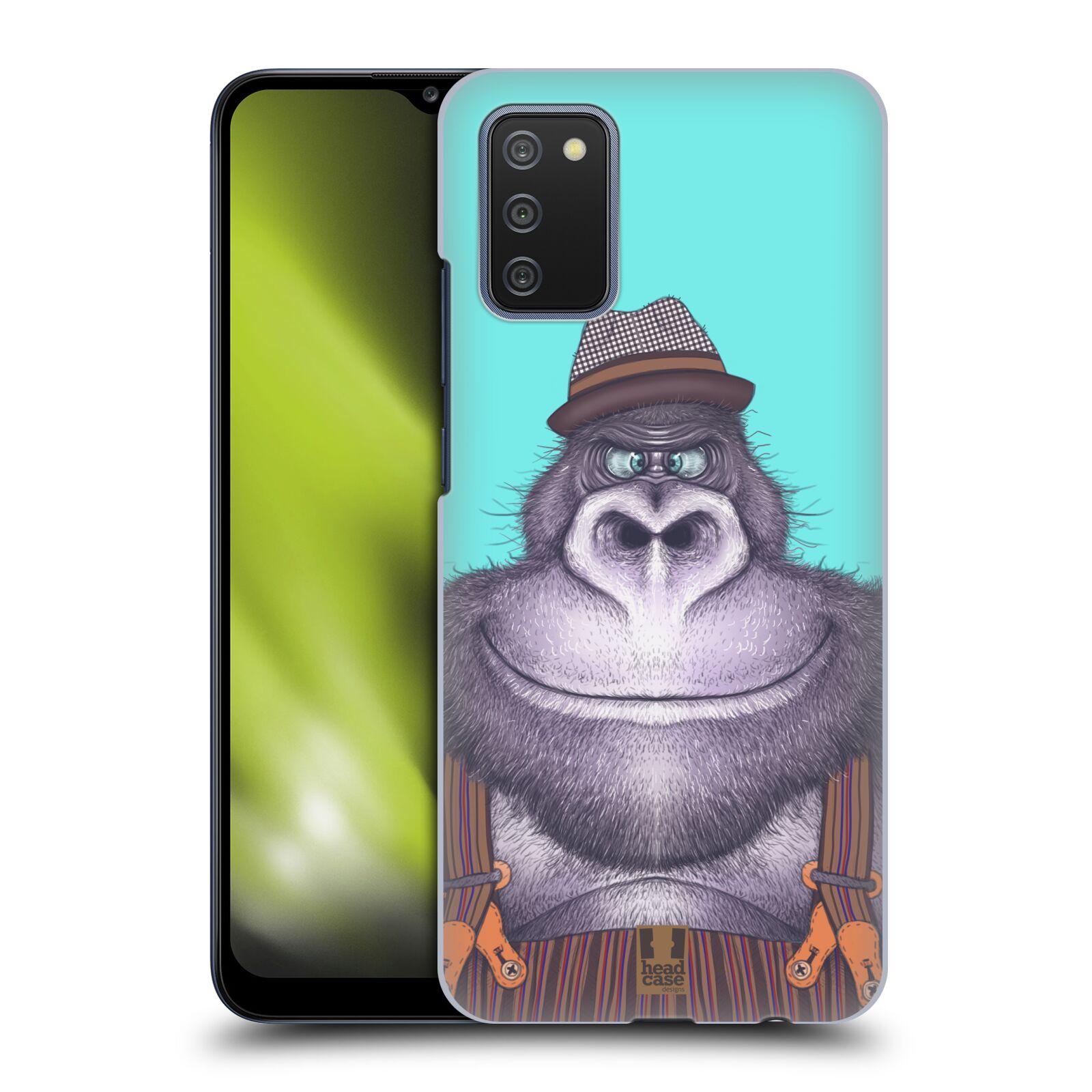 Plastové pouzdro na mobil Samsung Galaxy A02s - Head Case - ANIMPLA GORILÁK
