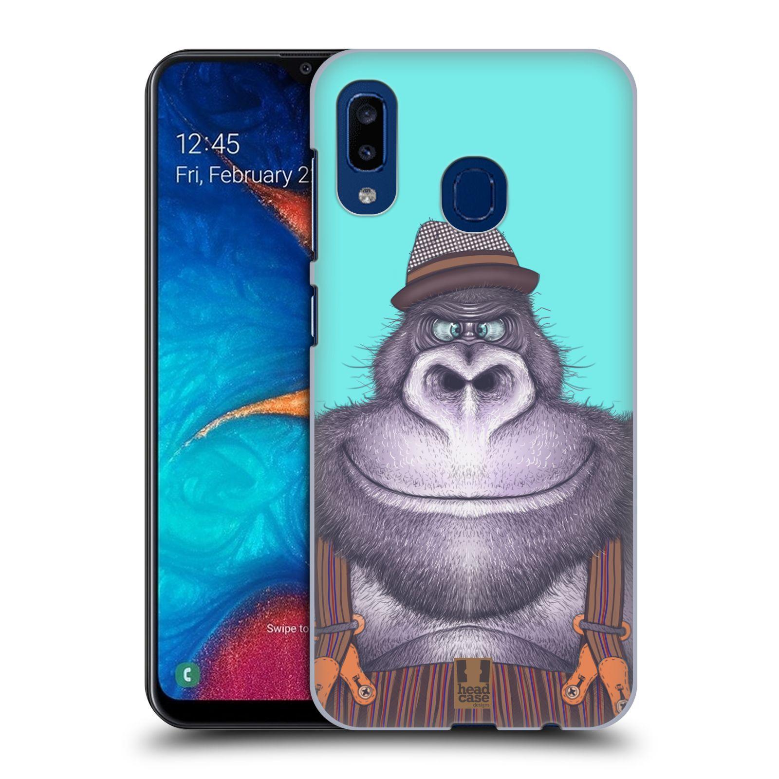 Plastové pouzdro na mobil Samsung Galaxy A20 - Head Case - ANIMPLA GORILÁK