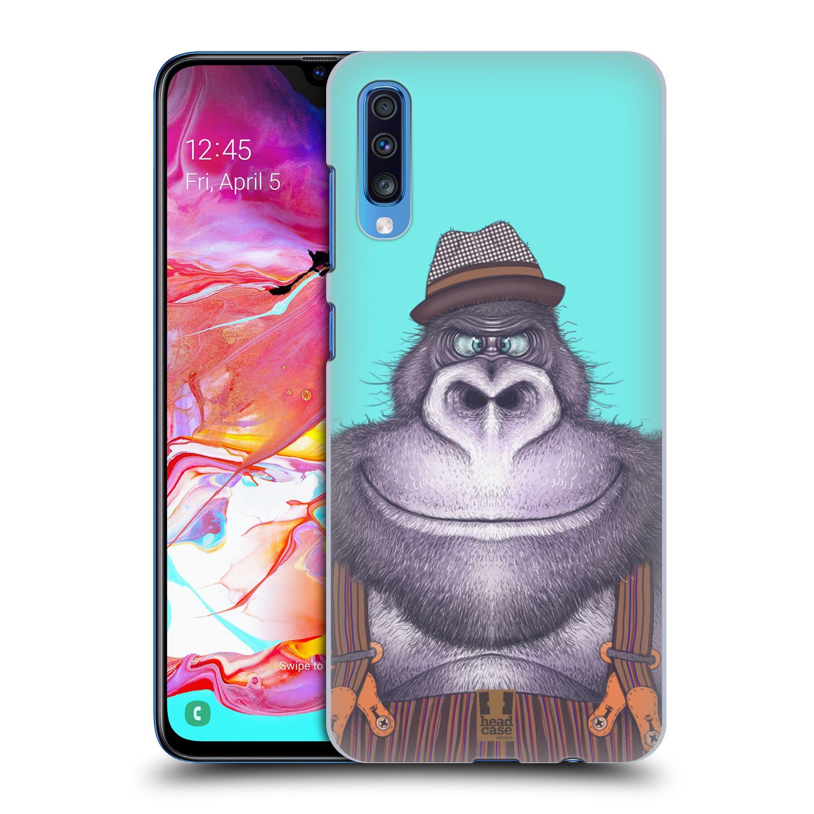 Plastové pouzdro na mobil Samsung Galaxy A70 - Head Case - ANIMPLA GORILÁK