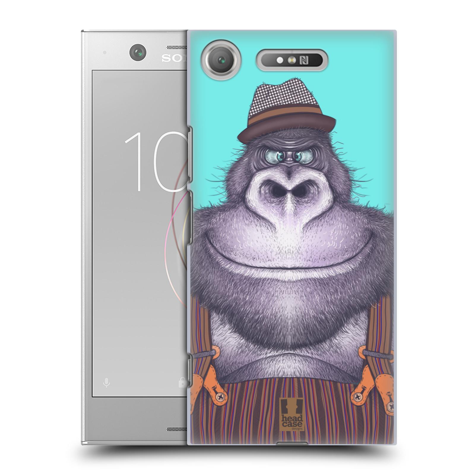 Plastové pouzdro na mobil Sony Xperia XZ1 - Head Case - ANIMPLA GORILÁK