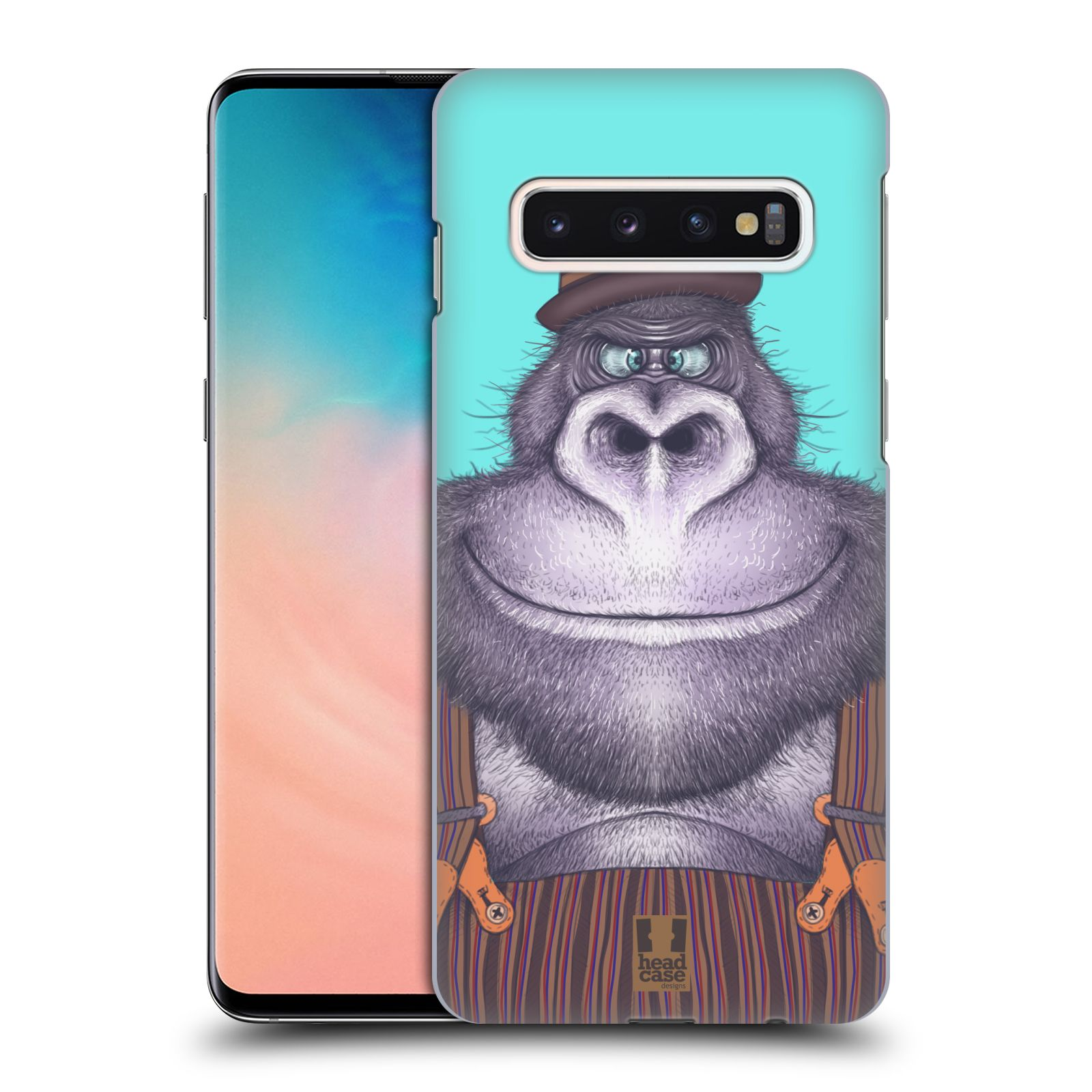 Plastové pouzdro na mobil Samsung Galaxy S10 - Head Case - ANIMPLA GORILÁK
