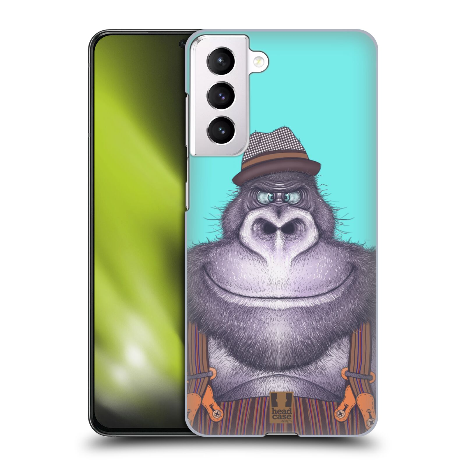 Plastové pouzdro na mobil Samsung Galaxy S21 5G - Head Case - ANIMPLA GORILÁK